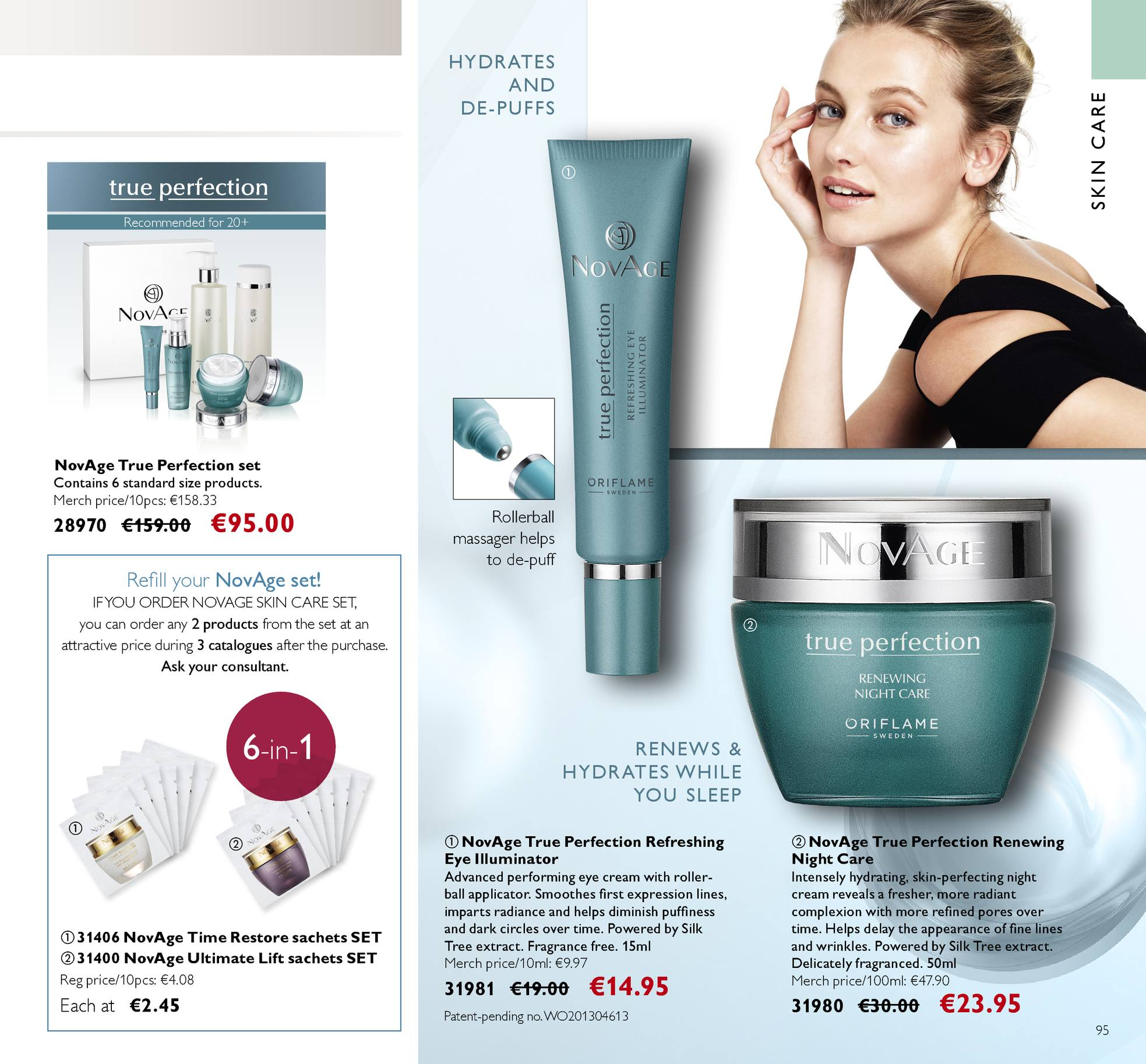 Oriflame offer  - 13.4.2018 - 3.5.2018 - Sales products - night cream, Time Restore, True Perfection, Ultimate Lift, eye cream, roller, refill, massager. Page 95.