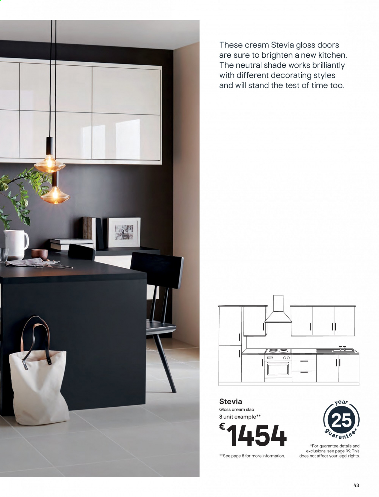 B&Q offer  - Sales products - door, Kitchen. Page 43.