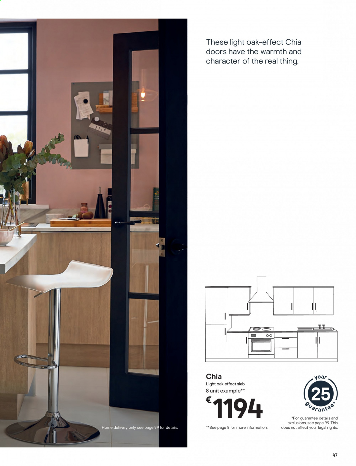 B&Q offer  - Sales products - door. Page 47.