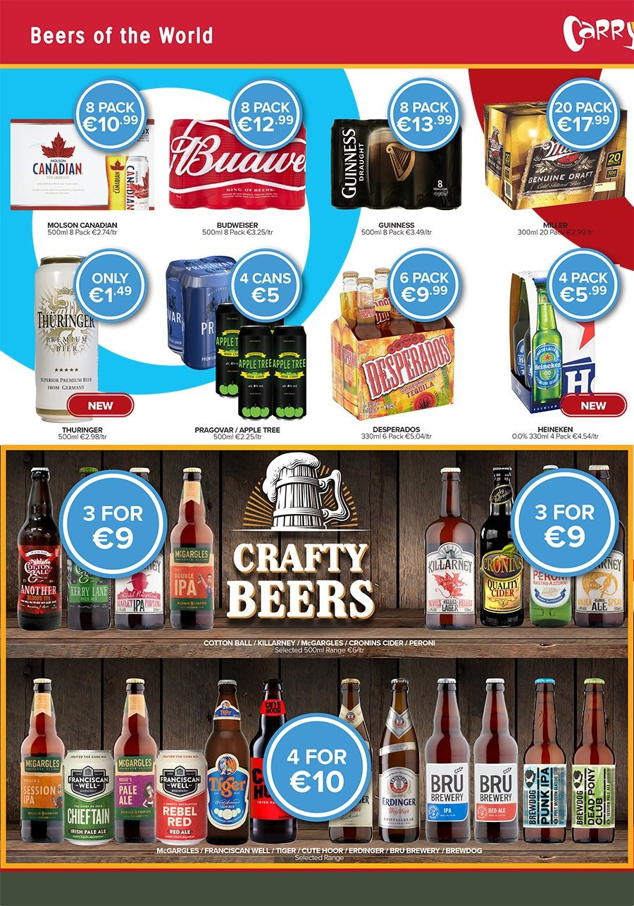 Carry Out offer  - 3.5.2018 - 7.5.2018 - Sales products - Budweiser, apple cider, Heineken, Desperados. Page 3.