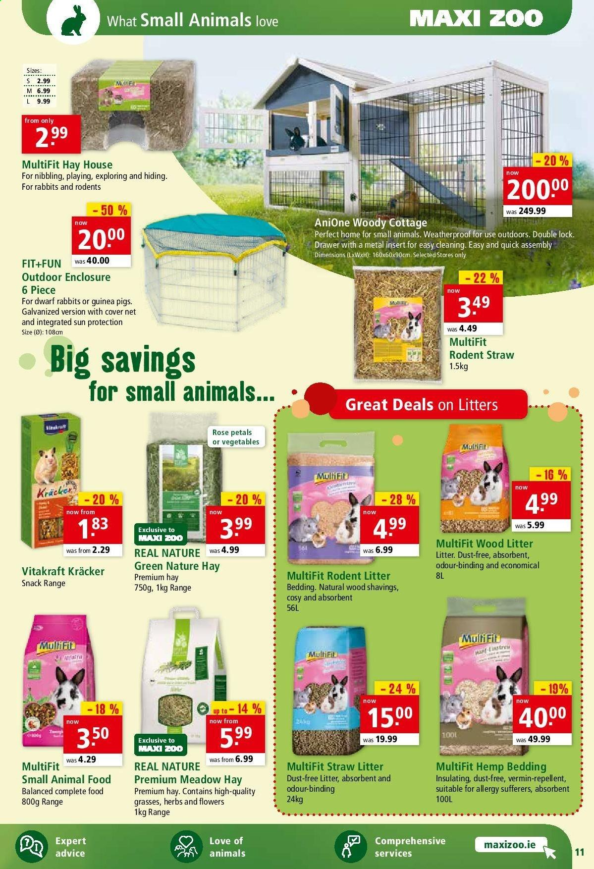 Maxi Zoo offer  - 1.7.2020 - 10.7.2020 - Sales products - animal food, drawer, litter, repellent, quick, vegetable, snack, herb. Page 11.