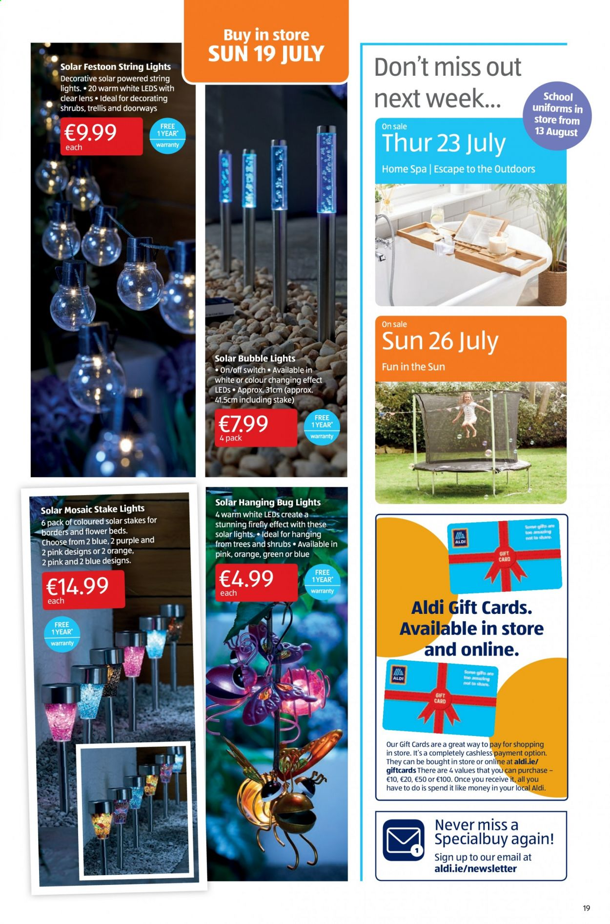 Aldi offer  - 16.7.2020 - 19.7.2020 - Sales products - lens, switch. Page 19.