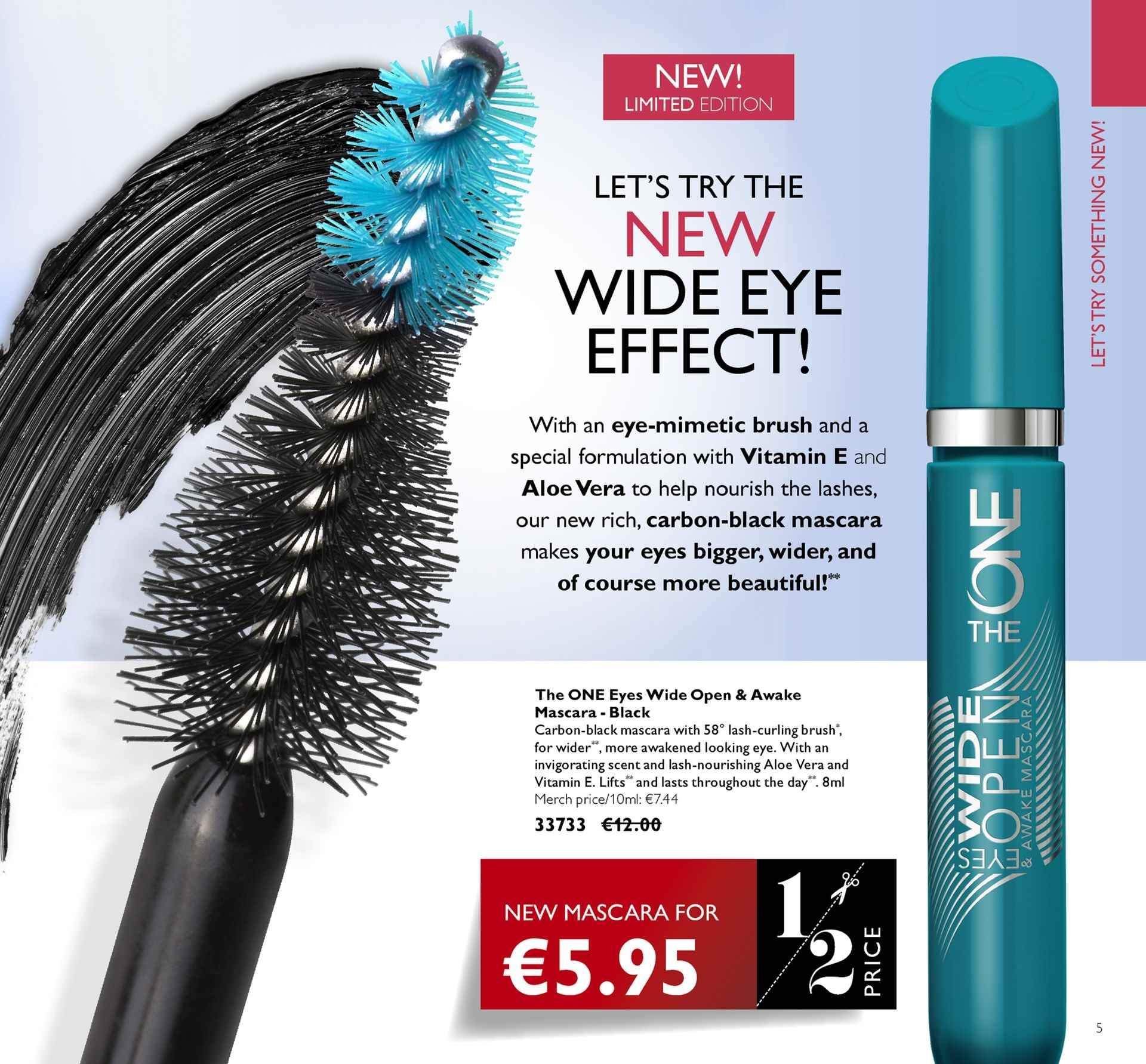 Oriflame offer  - 4.5.2018 - 24.5.2018 - Sales products - mascara. Page 5.