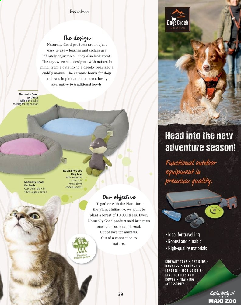 Maxi Zoo offer  - Sales products - goal, mouse, pet, toys, Gear, pet beds. Page 39.