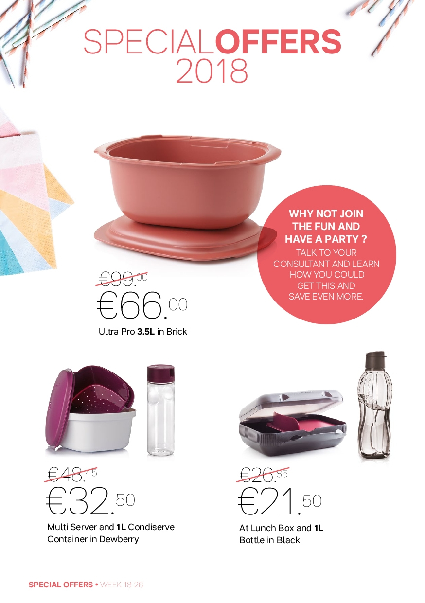 Tupperware offer  - 30.4.2018 - 1.7.2018 - Sales products - lunch box. Page 2.