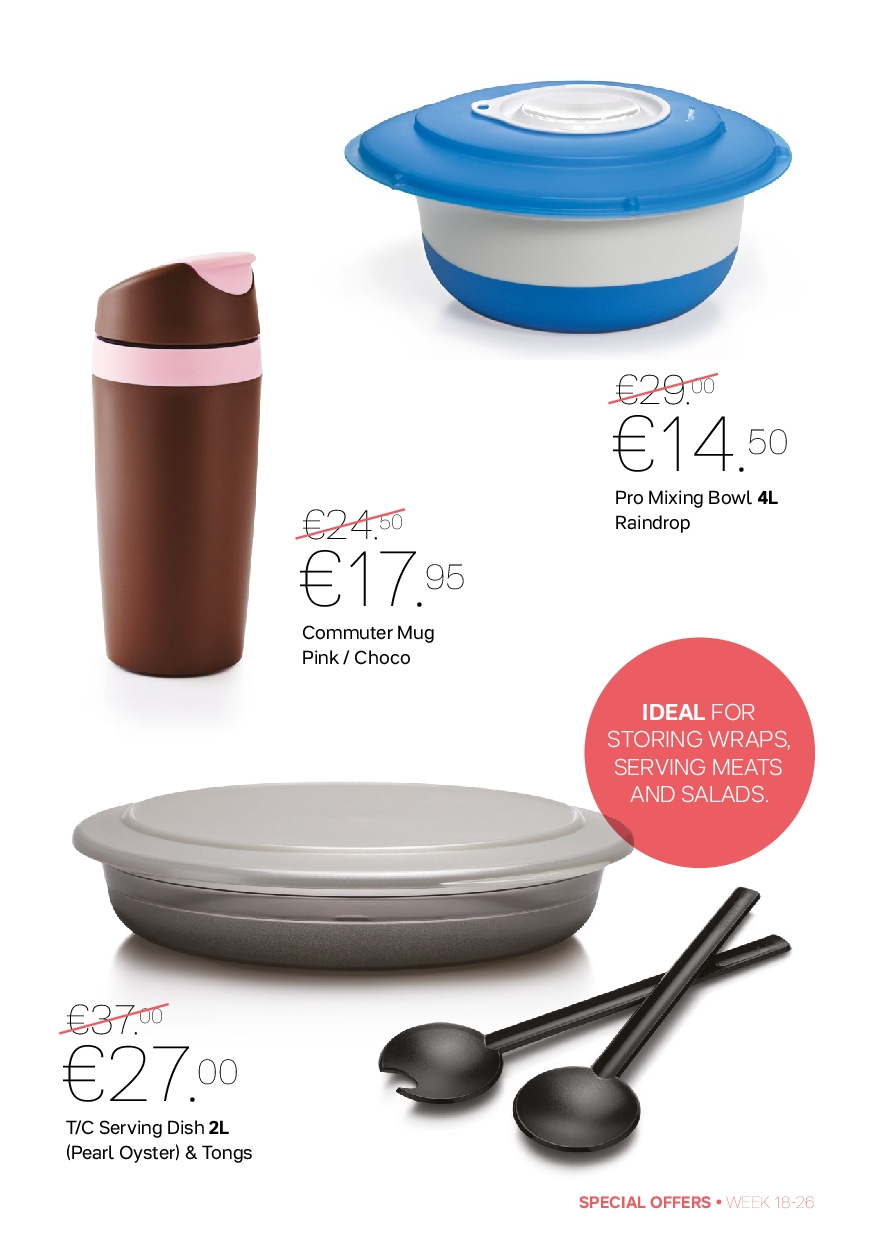Tupperware offer  - 30.4.2018 - 1.7.2018 - Sales products - mixing bowl, mug, bowl, wrap. Page 5.