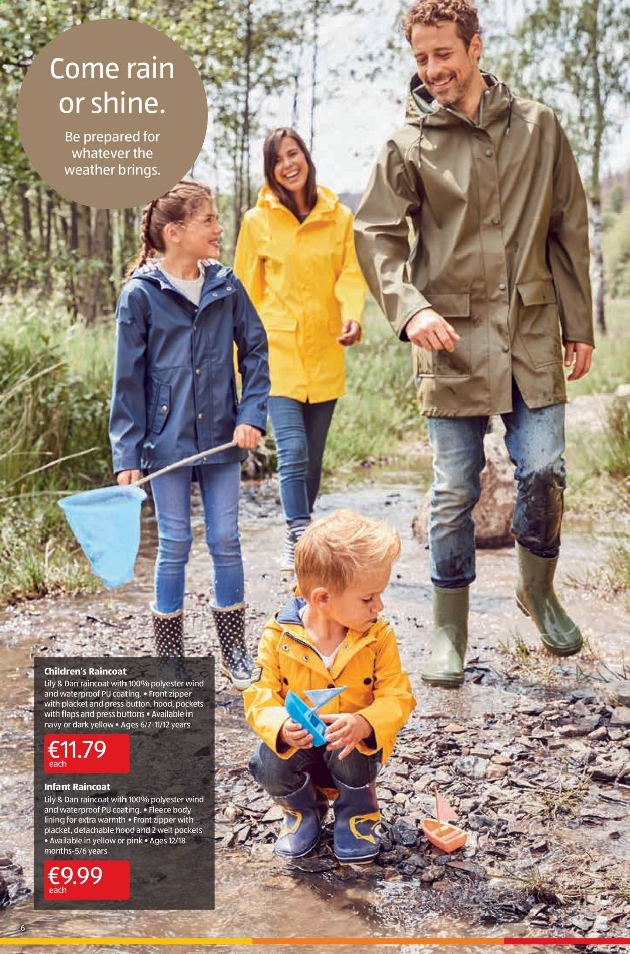 Aldi offer  - 17.9.2020 - 20.9.2020 - Sales products - raincoat, wind, hoodie, waterproof. Page 6.