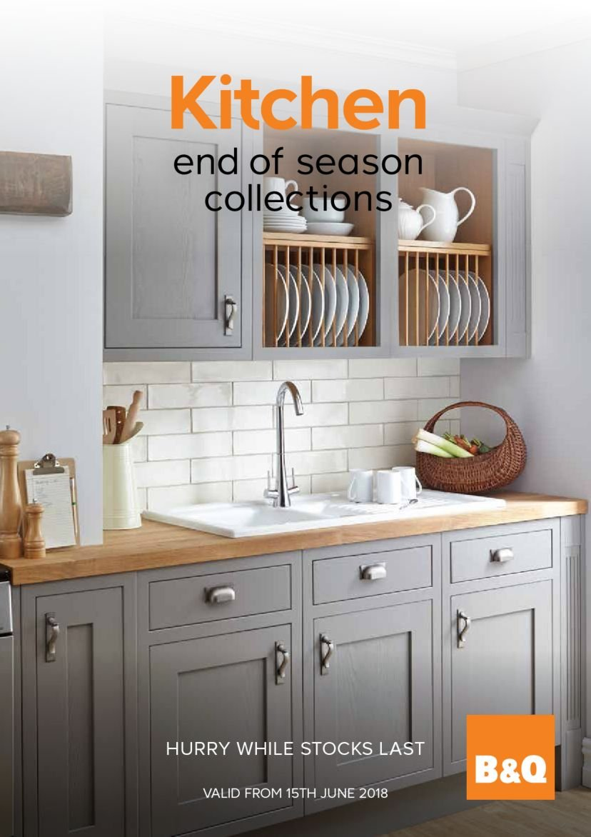 B&Q offer  - 15.6.2018 - 31.8.2018 - Sales products - kitchen. Page 1.