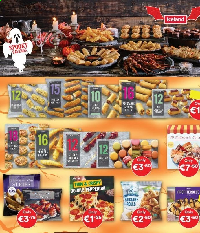 Iceland offer  - 16.10.2020 - 11.11.2020 - Sales products - sausage, chicken, pepperoni, chocolate, vegetable, rolls, spring. Page 3.
