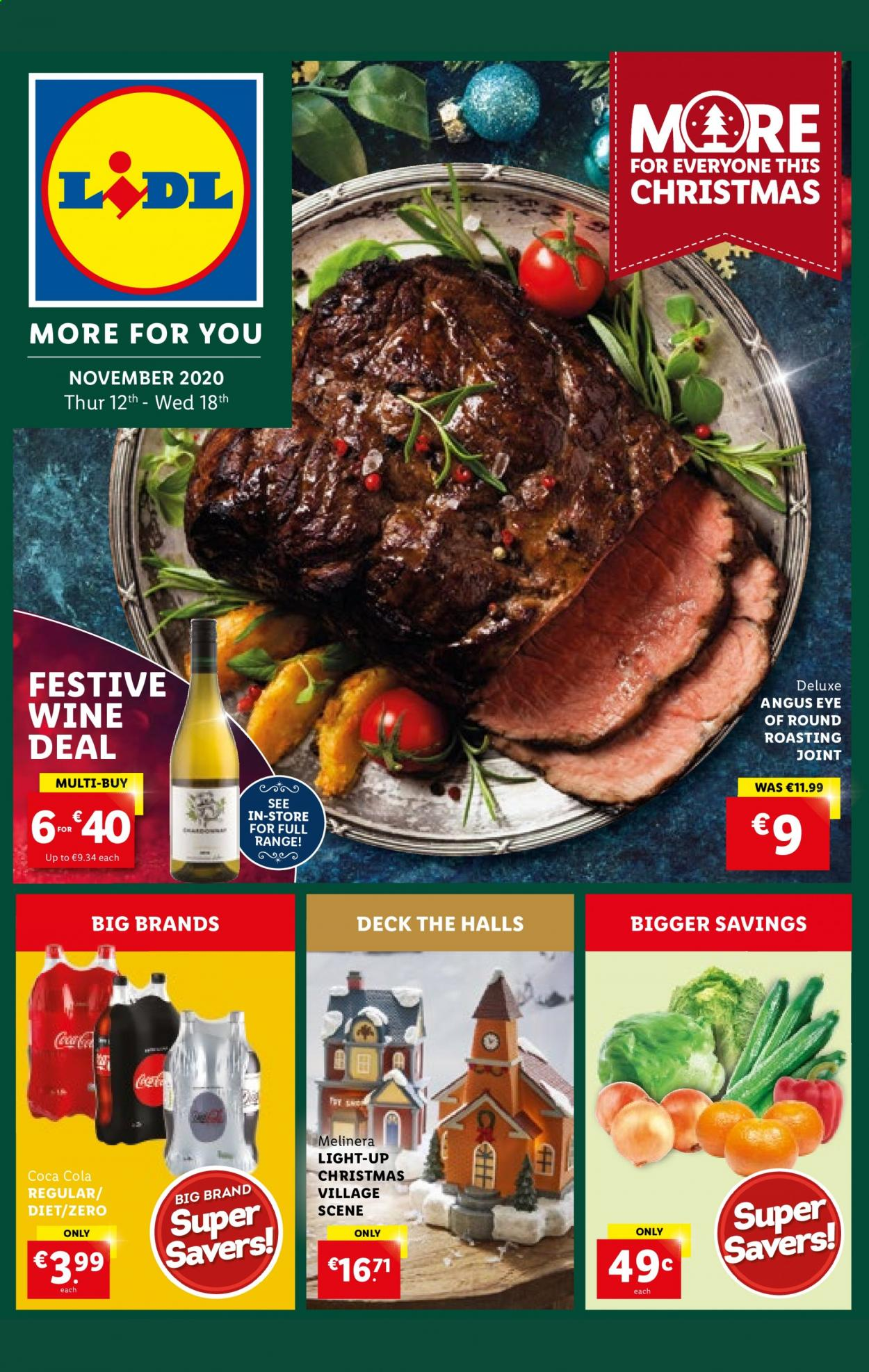 Lidl offer  - 12.11.2020 - 18.11.2020 - Sales products - coca-cola, halls, wine. Page 1.