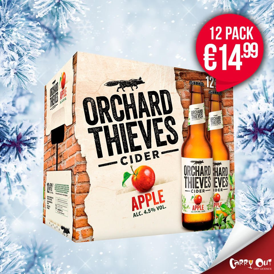 Carry Out offer  - Sales products - apple cider. Page 3.
