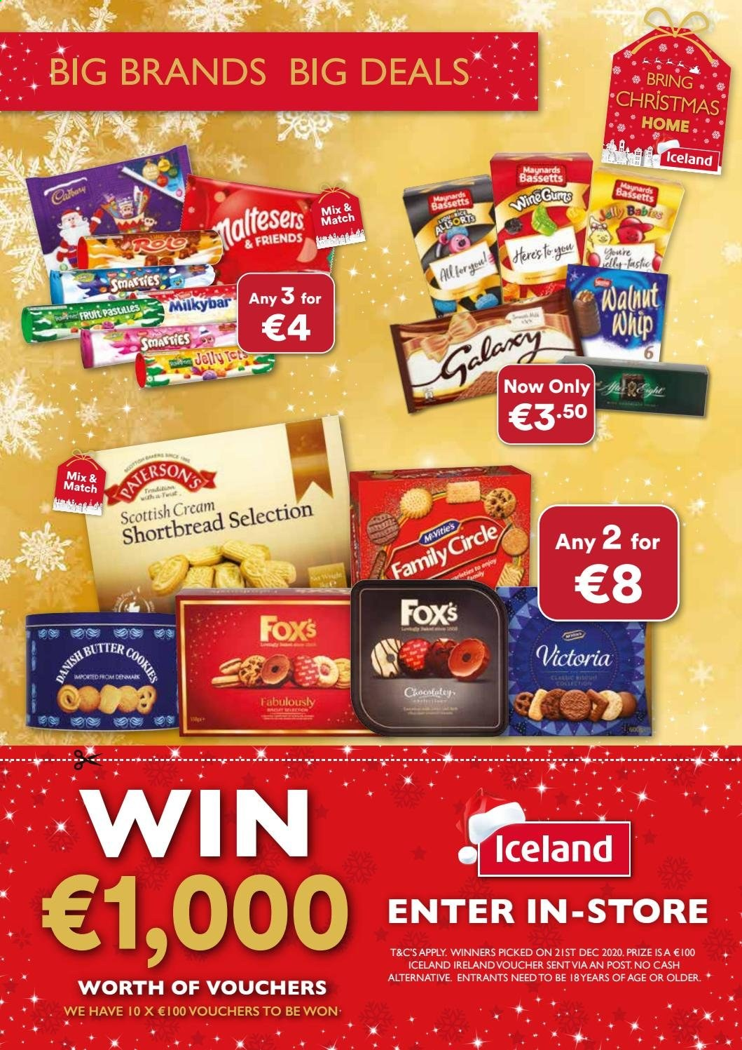 Iceland offer  - Sales products - butter, cookies, wine, Fruit, jelly. Page 12.