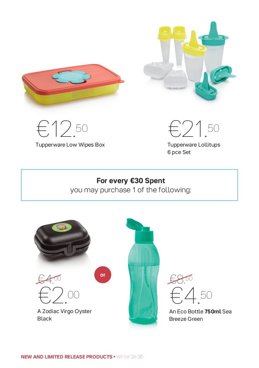 Tupperware offer  - 30.7.2018 - 2.9.2018. Page 12.