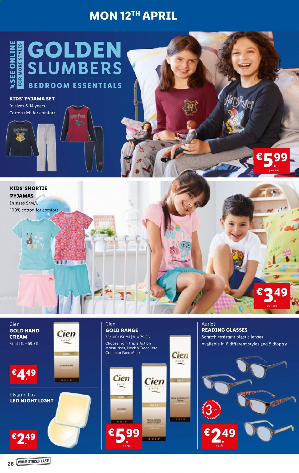 Lidl offer  - 8.4.2021 - 14.4.2021 - Sales products - Comfort, Lux, face mask, lenses, essentials. Page 26.