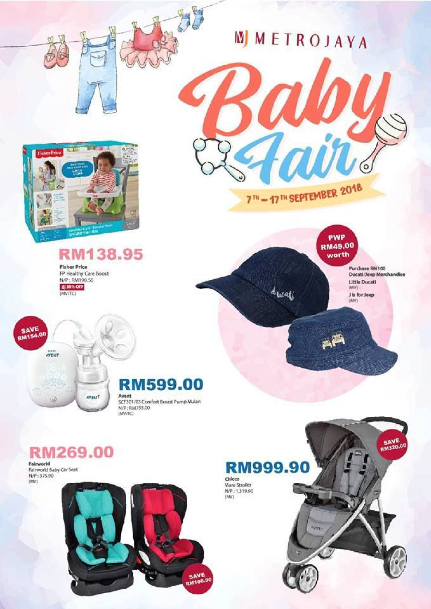 Metrojaya catalogue  - 07 September 2018 - 17 September 2018. Page 1.