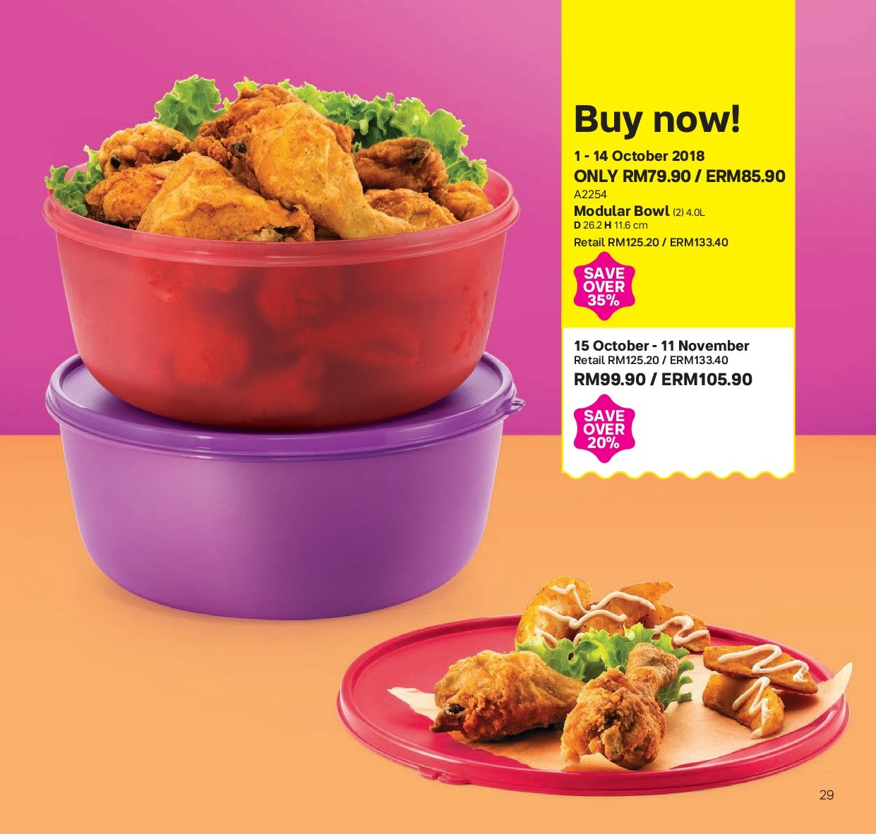Iklan TupperwareBrands - 01.10.2018 - 11.11.2018. Halaman 29.