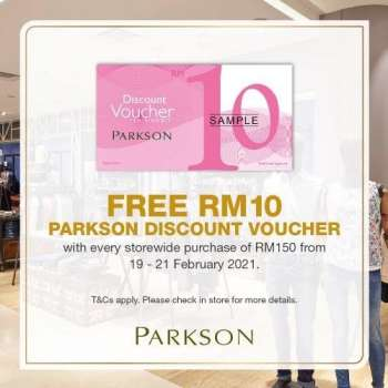Parkson catalogue  - 19 February 2021 - 21 February 2021.