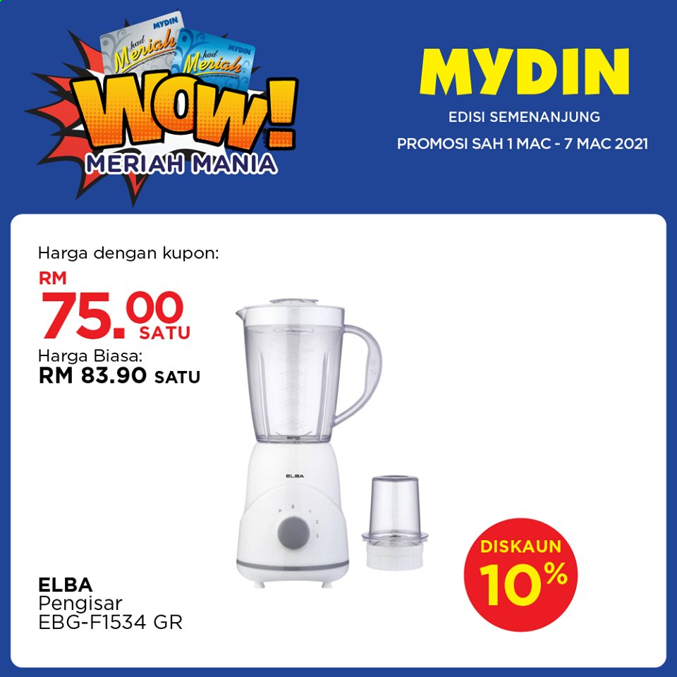 Mydin catalogue  - 01 March 2021 - 07 March 2021. Page 1.