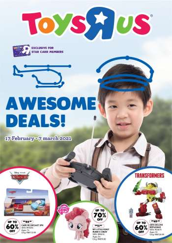 Toys'R'Us catalogue  - 17 February 2021 - 07 March 2021.