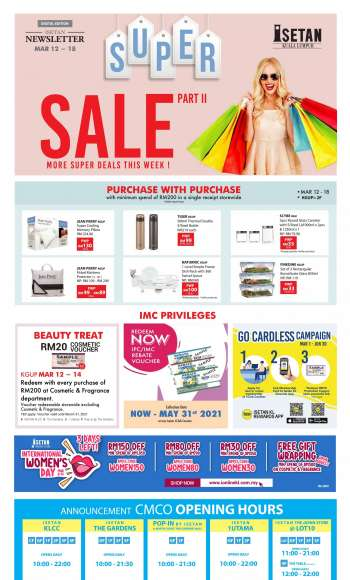 Isetan catalogue  - 12 March 2021 - 18 March 2021.