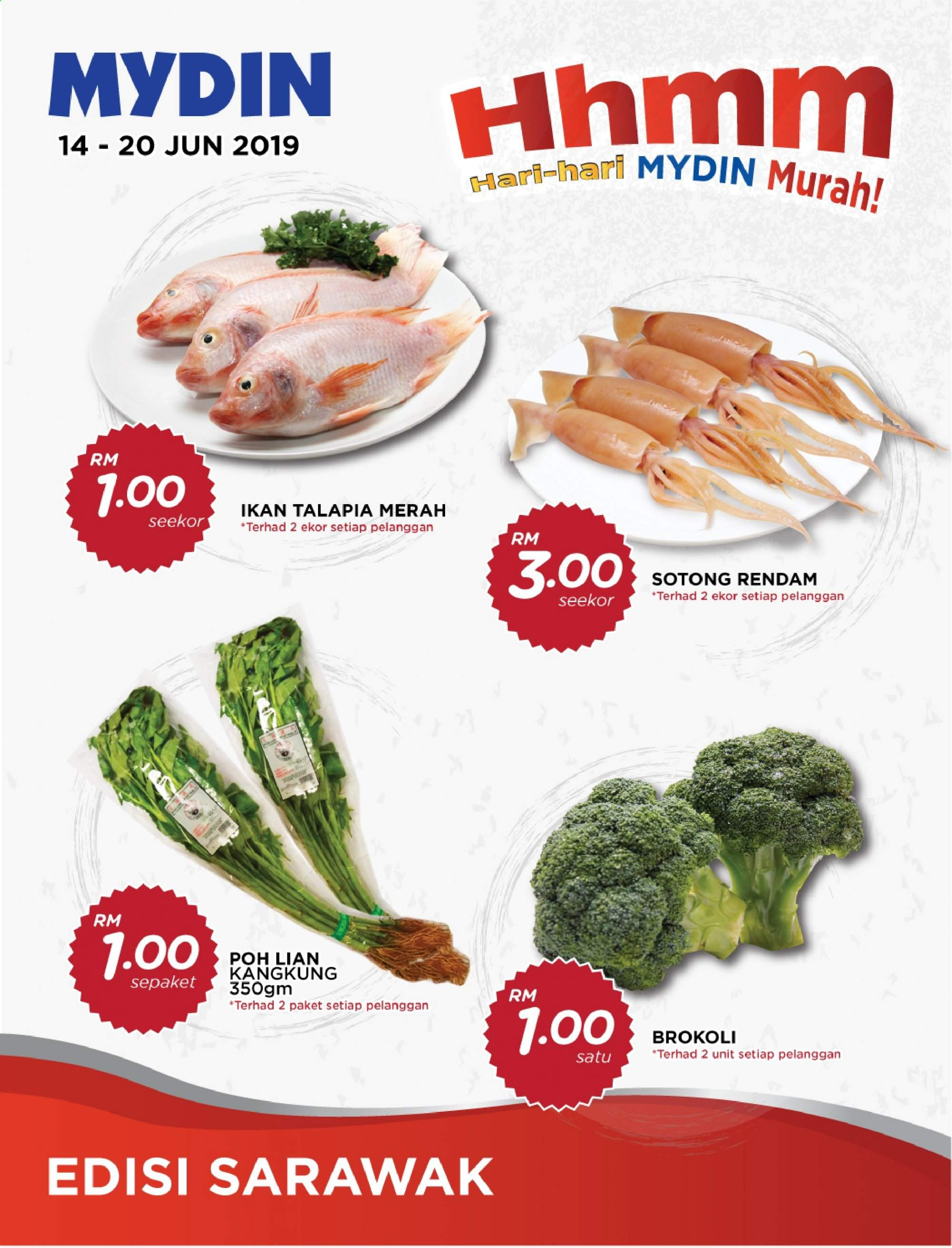 Mydin catalogue  - 14 June 2019 - 20 June 2019. Page 1.