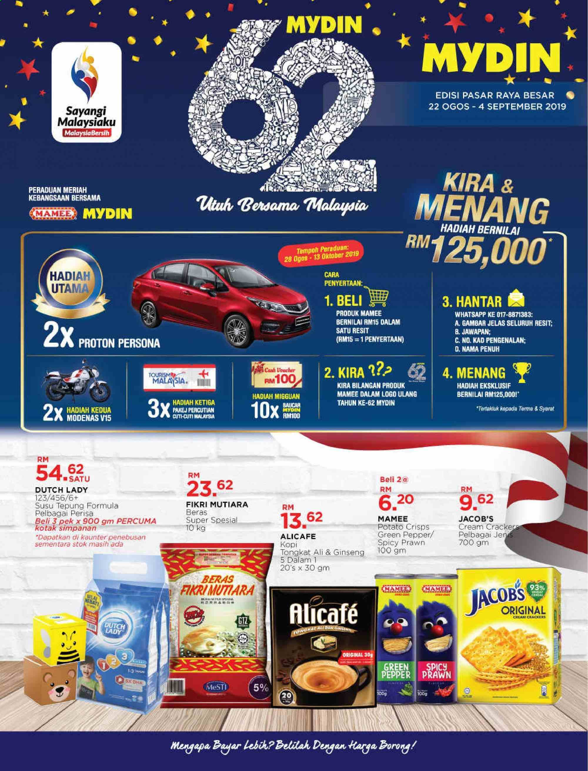 Mydin catalogue  - 22 August 2019 - 04 September 2019. Page 1.