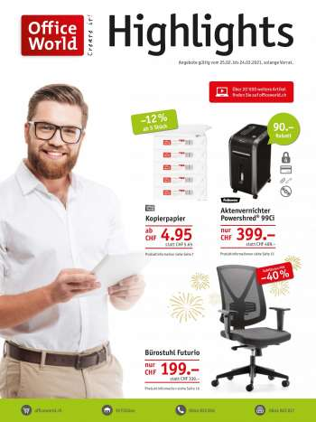 Prospekte Office World - 25.2.2021 - 24.3.2021.