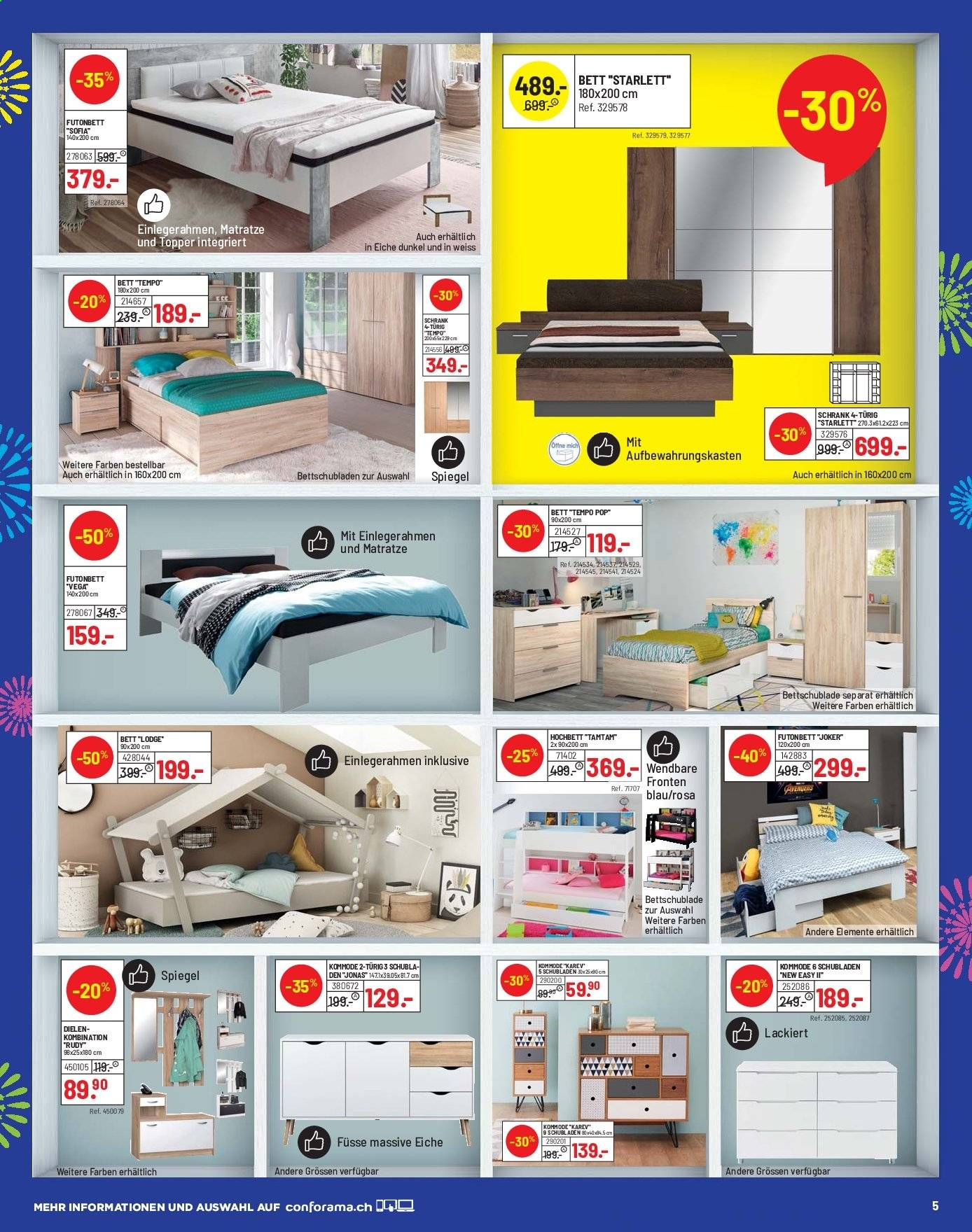 Catalogue Conforama 10.9.2019 - 23.9.2019 | Rabatt-kompass.ch