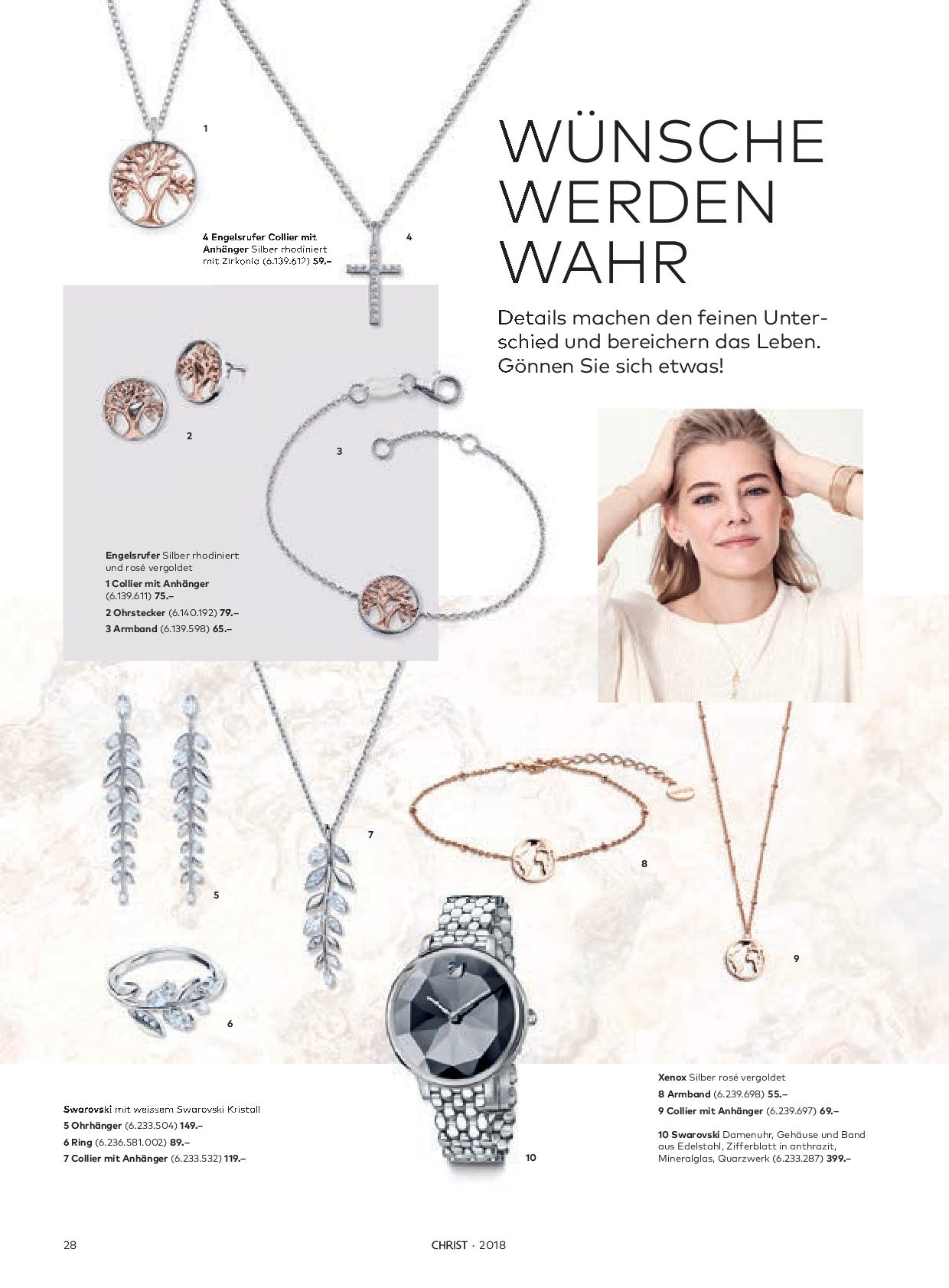 Prospekte Coop - 28.8.2018 - 28.2.2019 - Produkte in Aktion - anhänger, armband, band, ring, rosé. Seite 28.