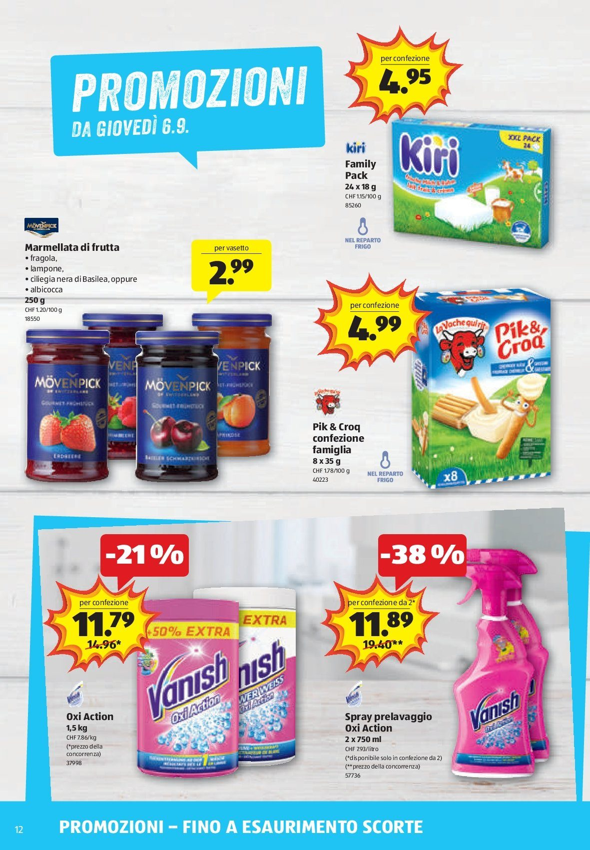 Prospekte Aldi - 6.9.2018 - 12.9.2018 - Produkte in Aktion - marmellata, spray. Seite 12.