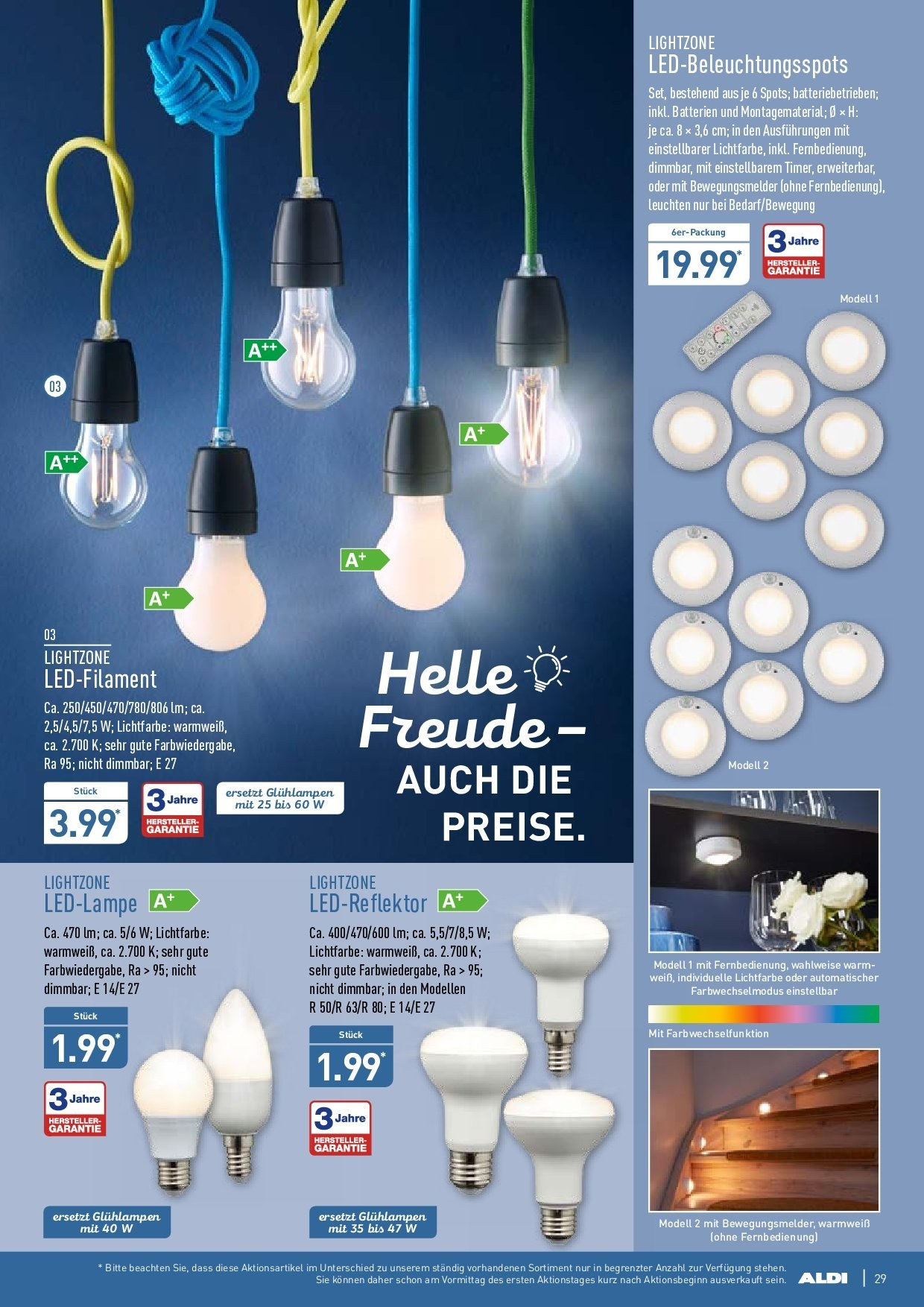 aldi nord angebote lampen