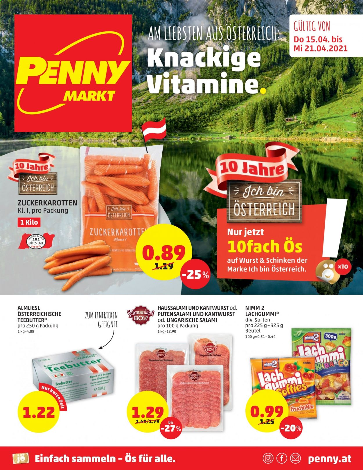 Angebote Penny - 15.4.2021 - 21.4.2021. Seite 1.
