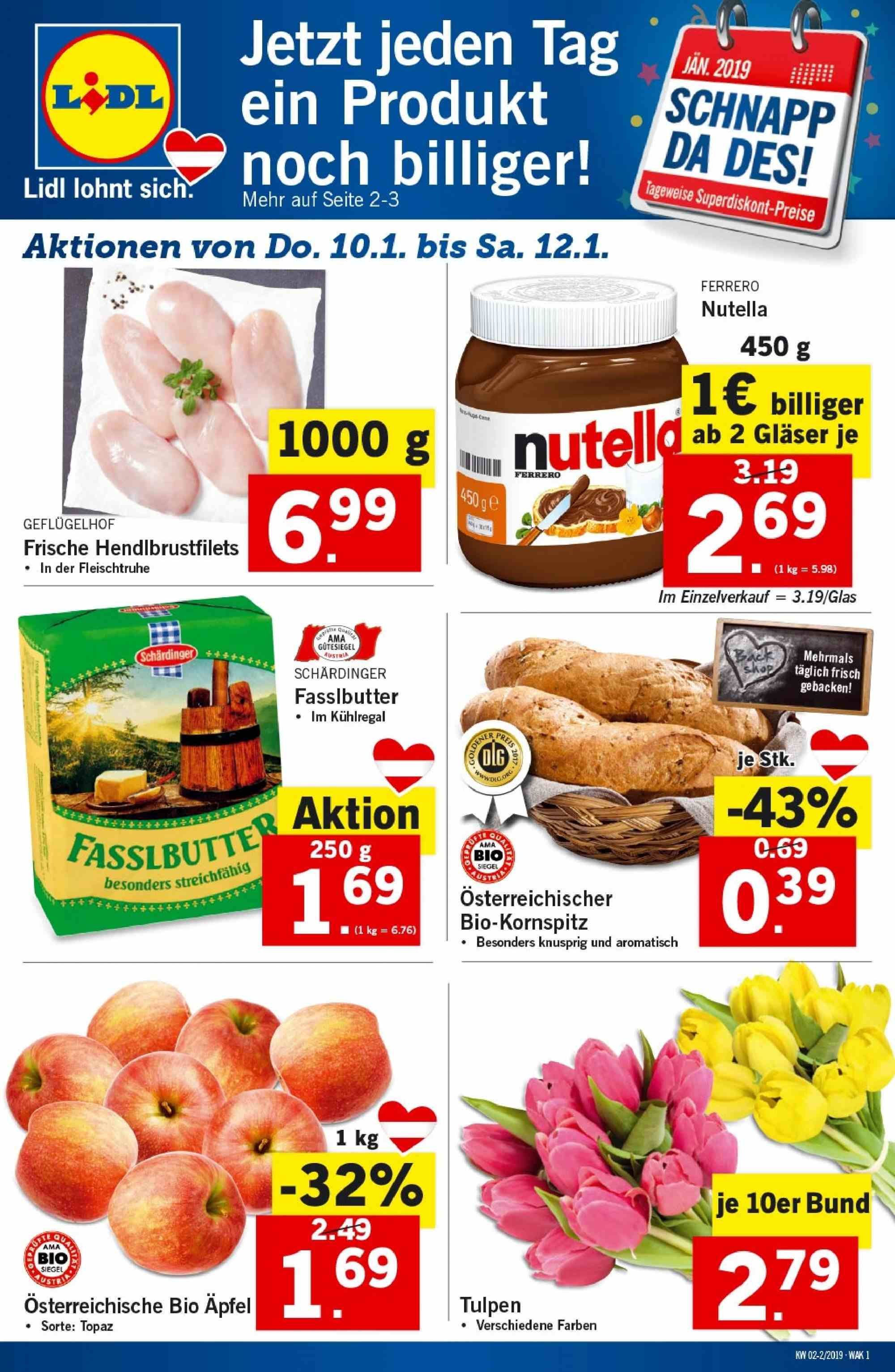 Angebote Lidl - 10.1.2019 - 16.1.2019. Seite 1.