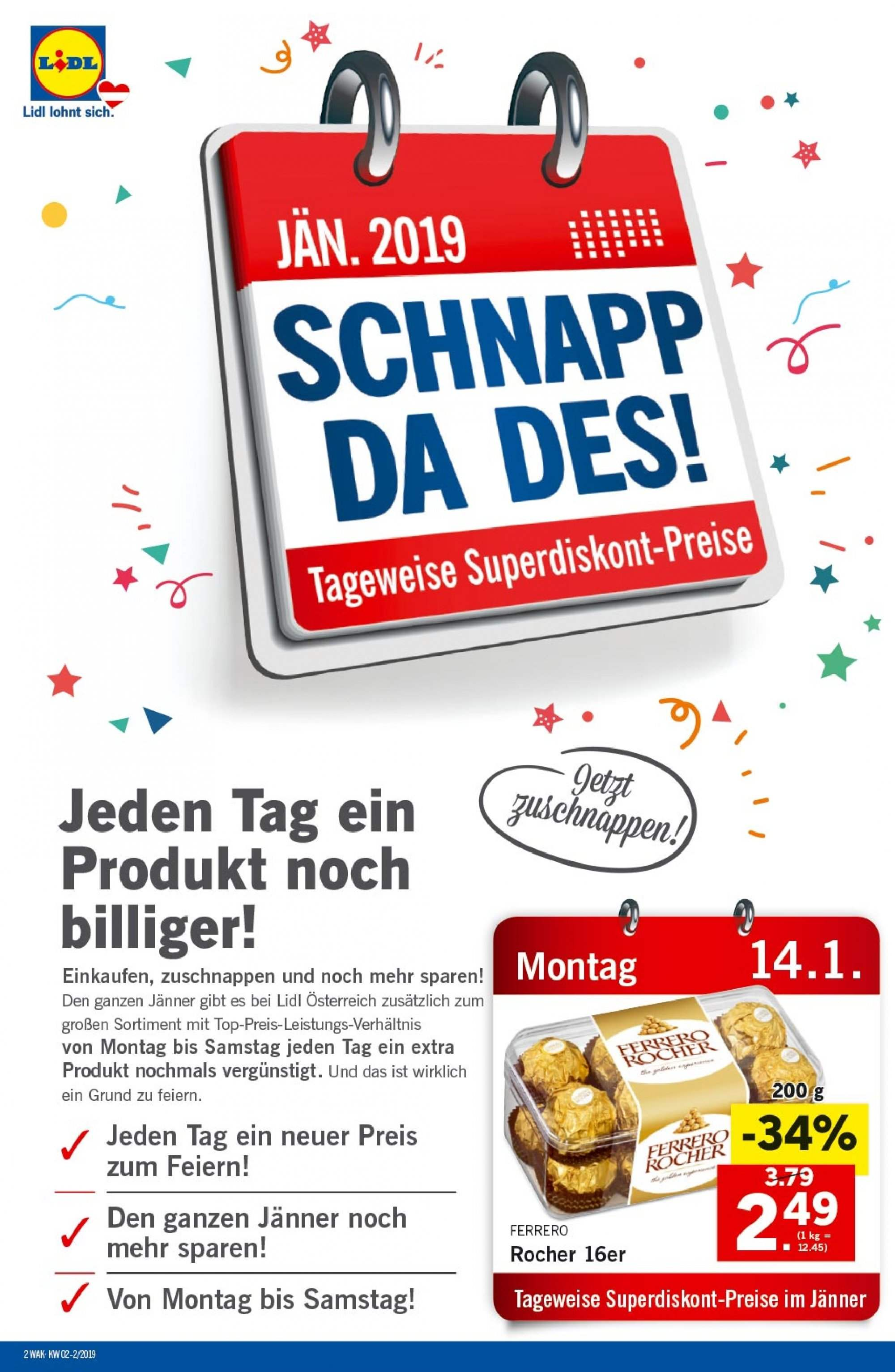 Angebote Lidl - 10.1.2019 - 16.1.2019. Seite 2.