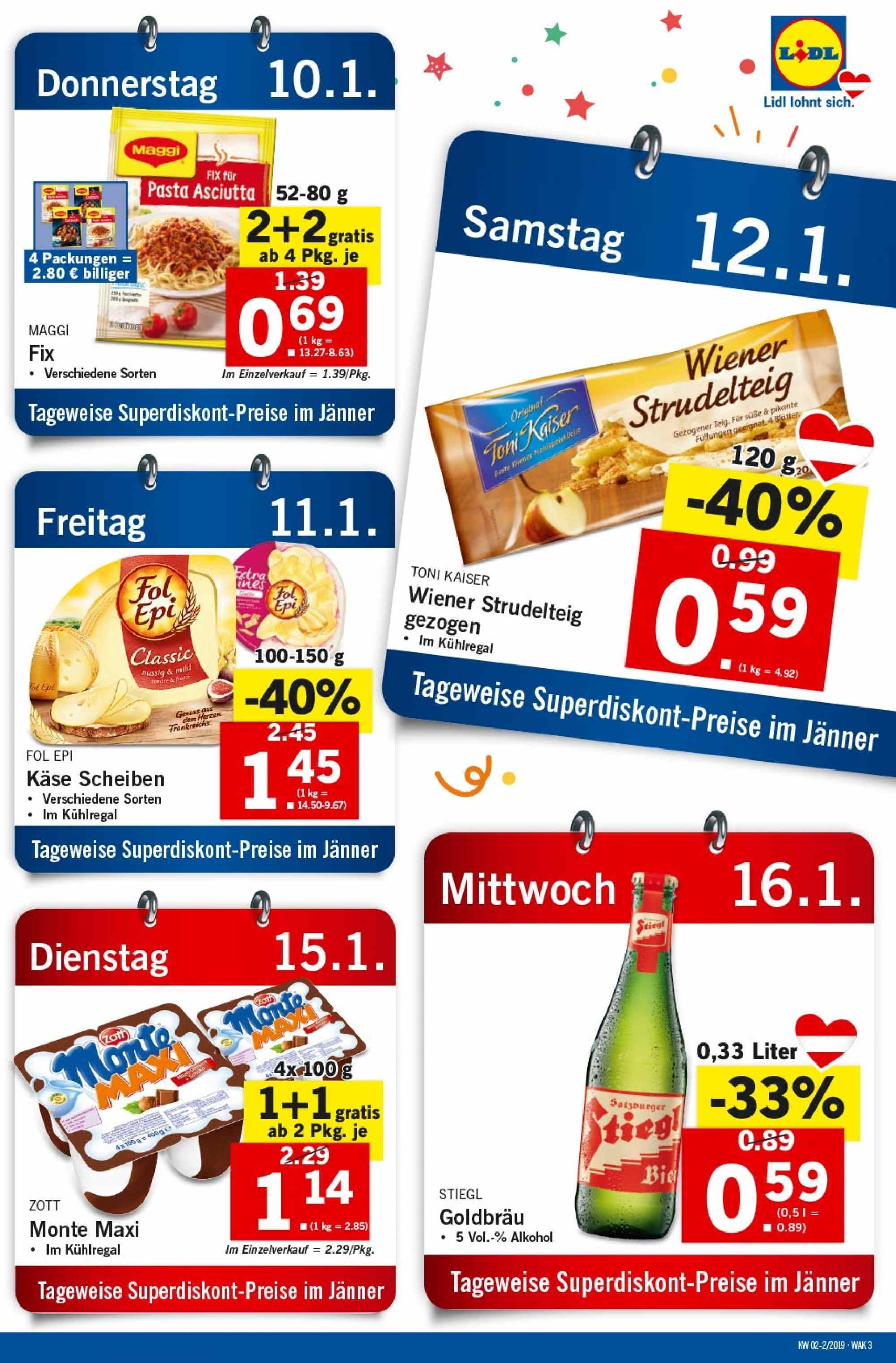 Angebote Lidl - 10.1.2019 - 16.1.2019. Seite 3.