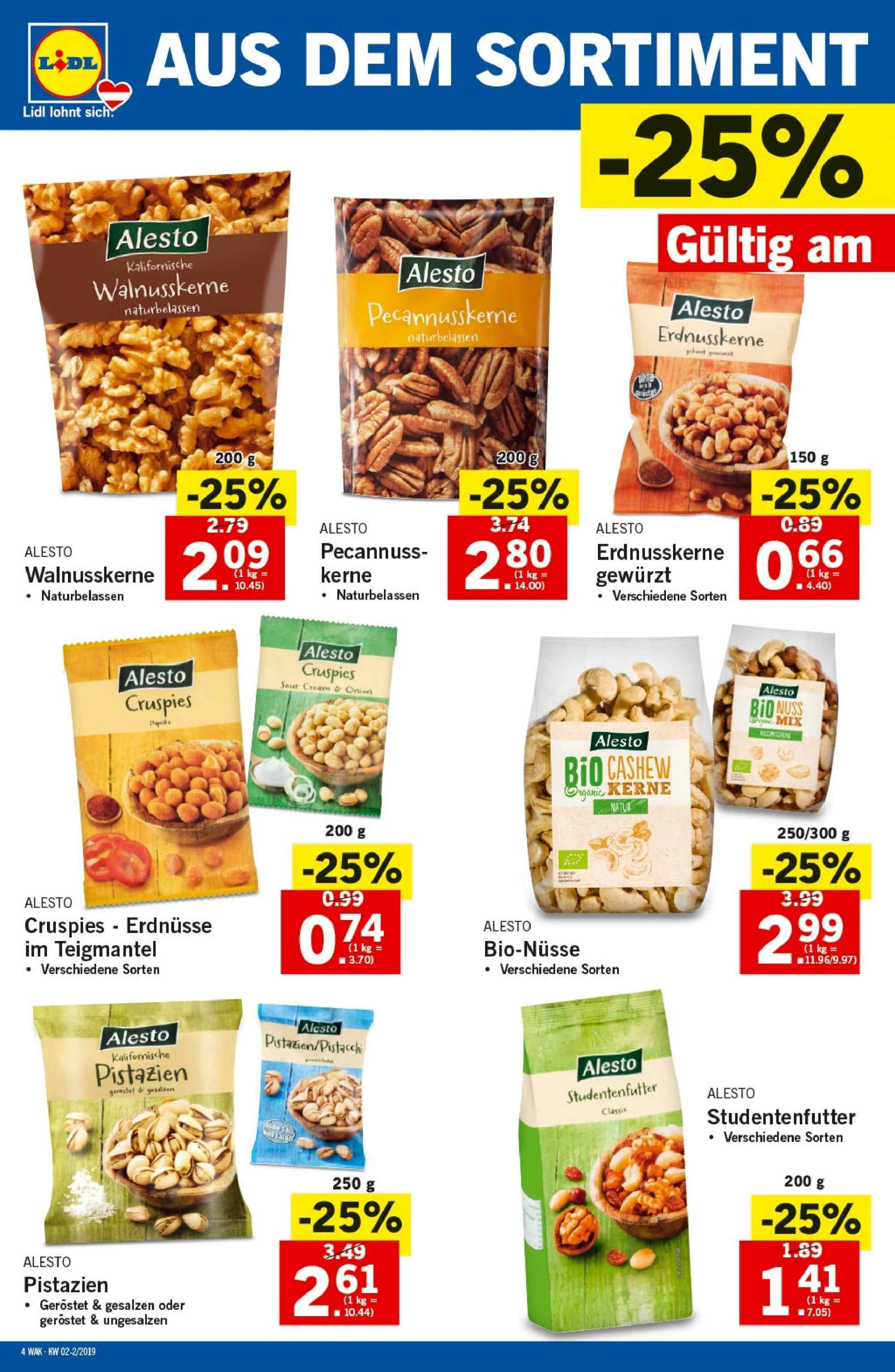 Angebote Lidl - 10.1.2019 - 16.1.2019. Seite 4.
