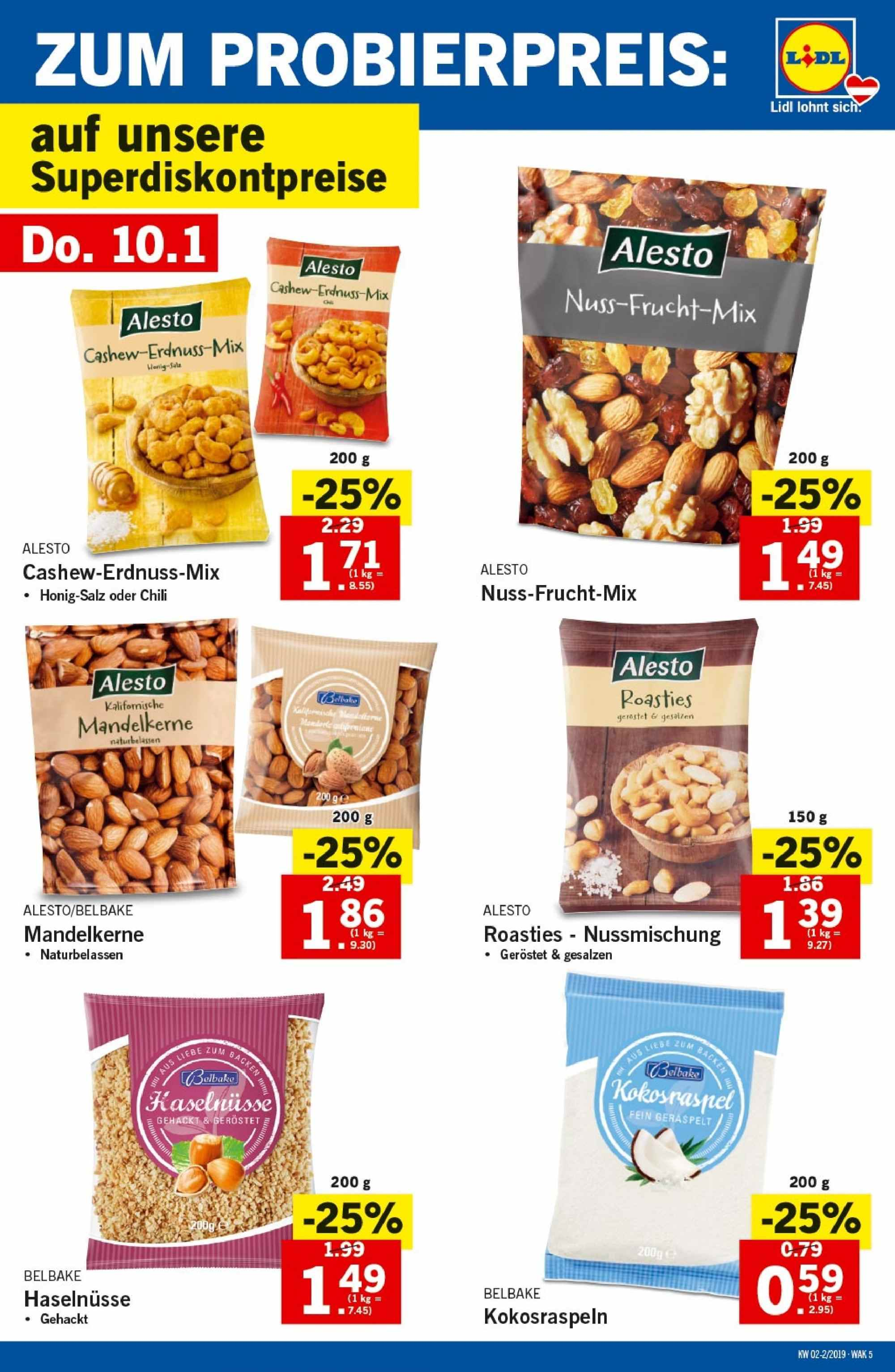 Angebote Lidl - 10.1.2019 - 16.1.2019. Seite 5.
