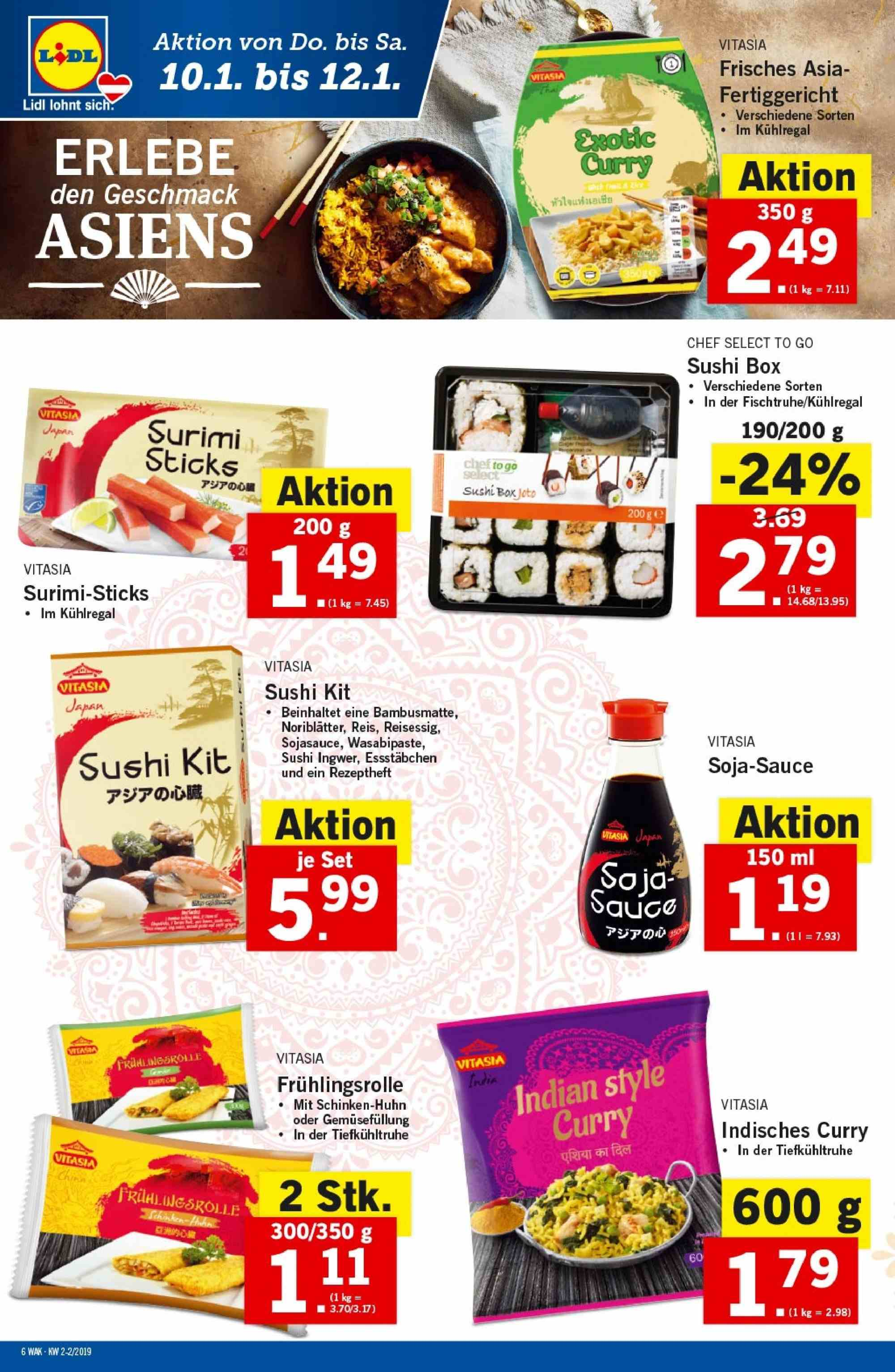 Angebote Lidl - 10.1.2019 - 16.1.2019. Seite 6.