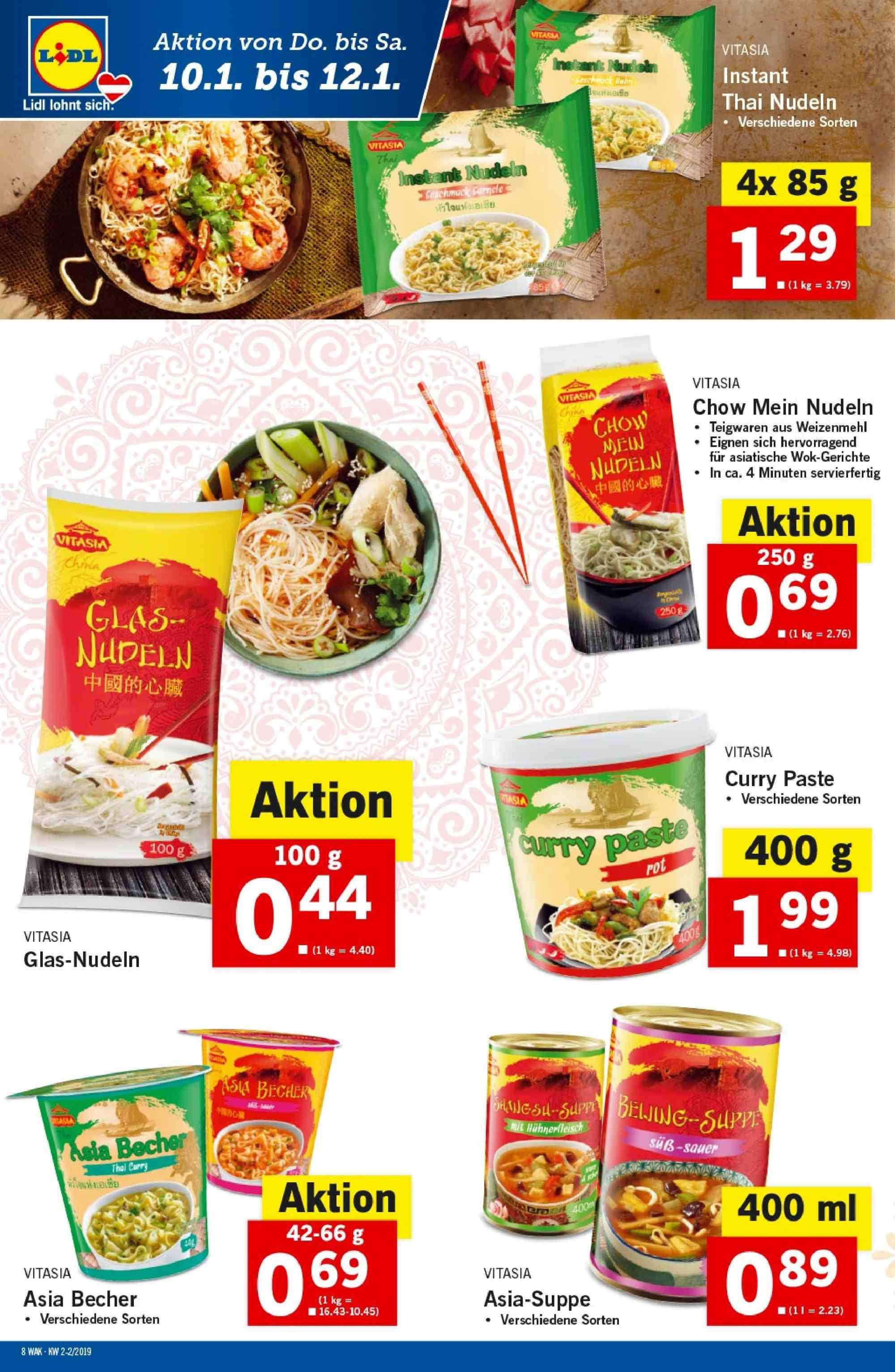 Angebote Lidl - 10.1.2019 - 16.1.2019. Seite 8.