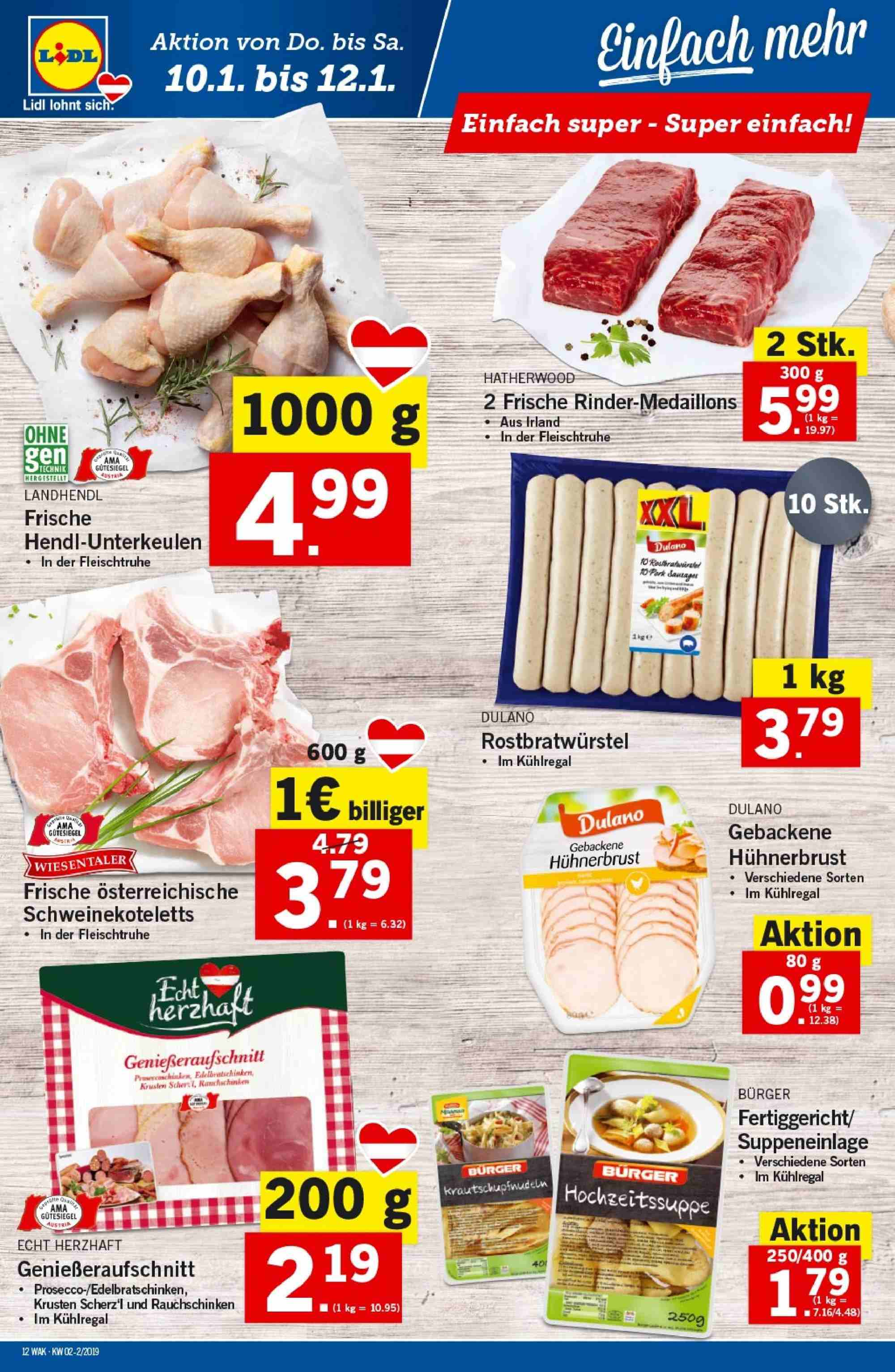 Angebote Lidl - 10.1.2019 - 16.1.2019. Seite 12.