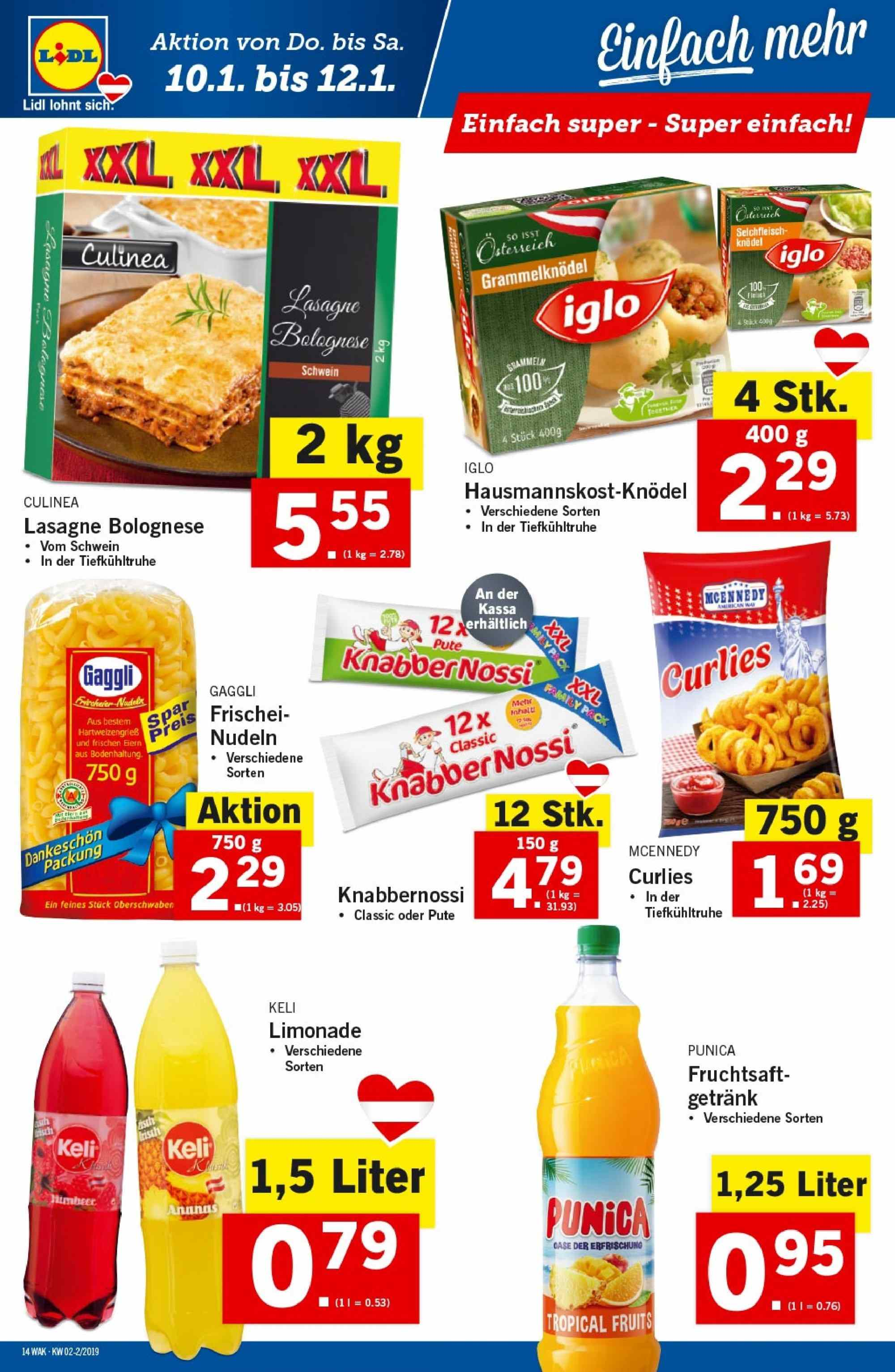Angebote Lidl - 10.1.2019 - 16.1.2019. Seite 14.