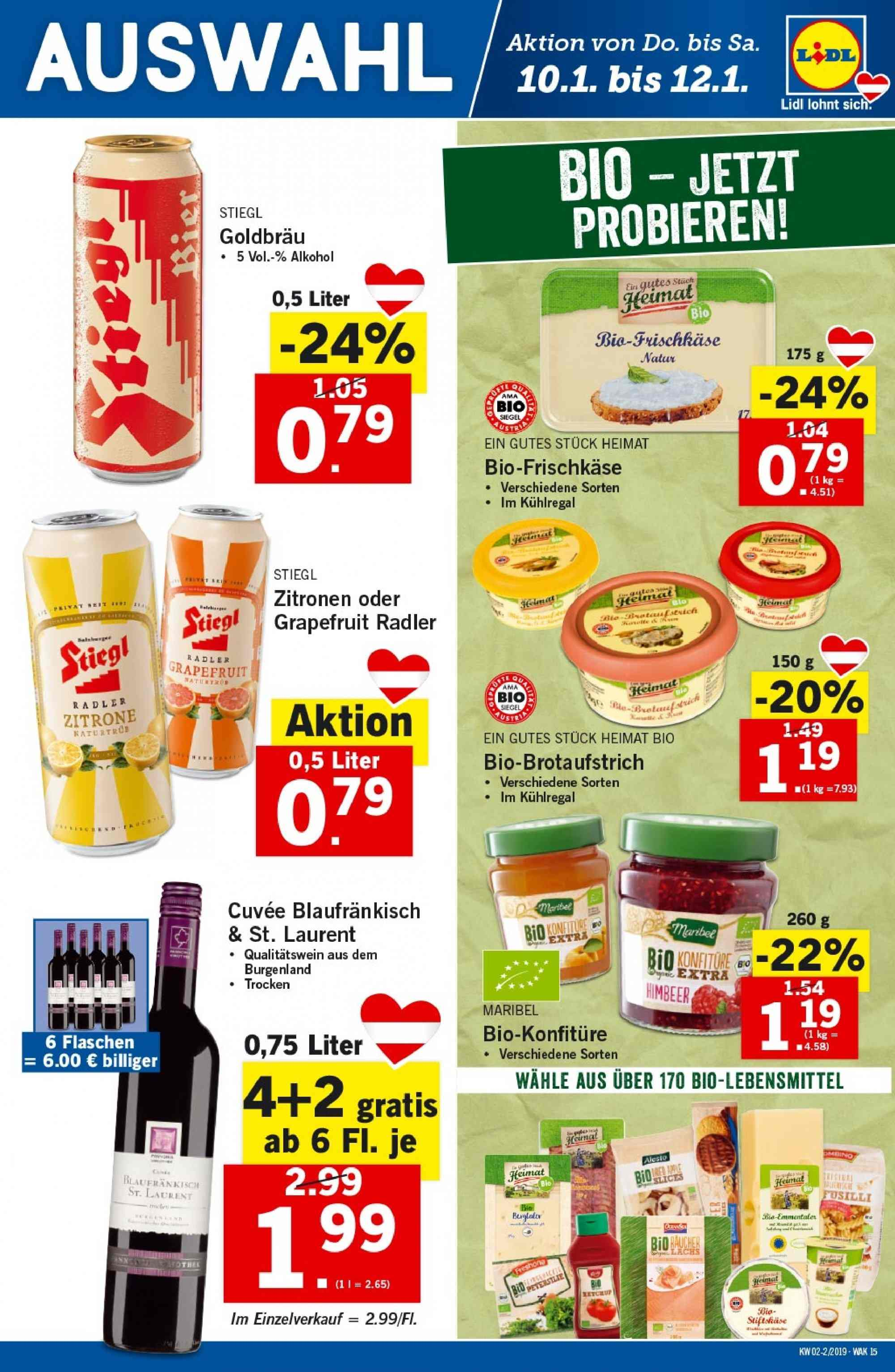 Angebote Lidl - 10.1.2019 - 16.1.2019. Seite 15.