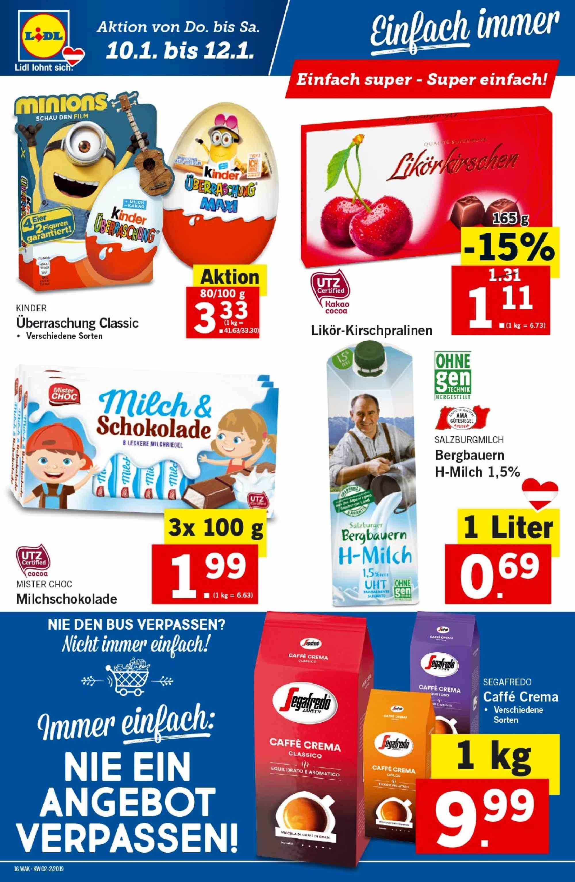 Angebote Lidl - 10.1.2019 - 16.1.2019. Seite 16.