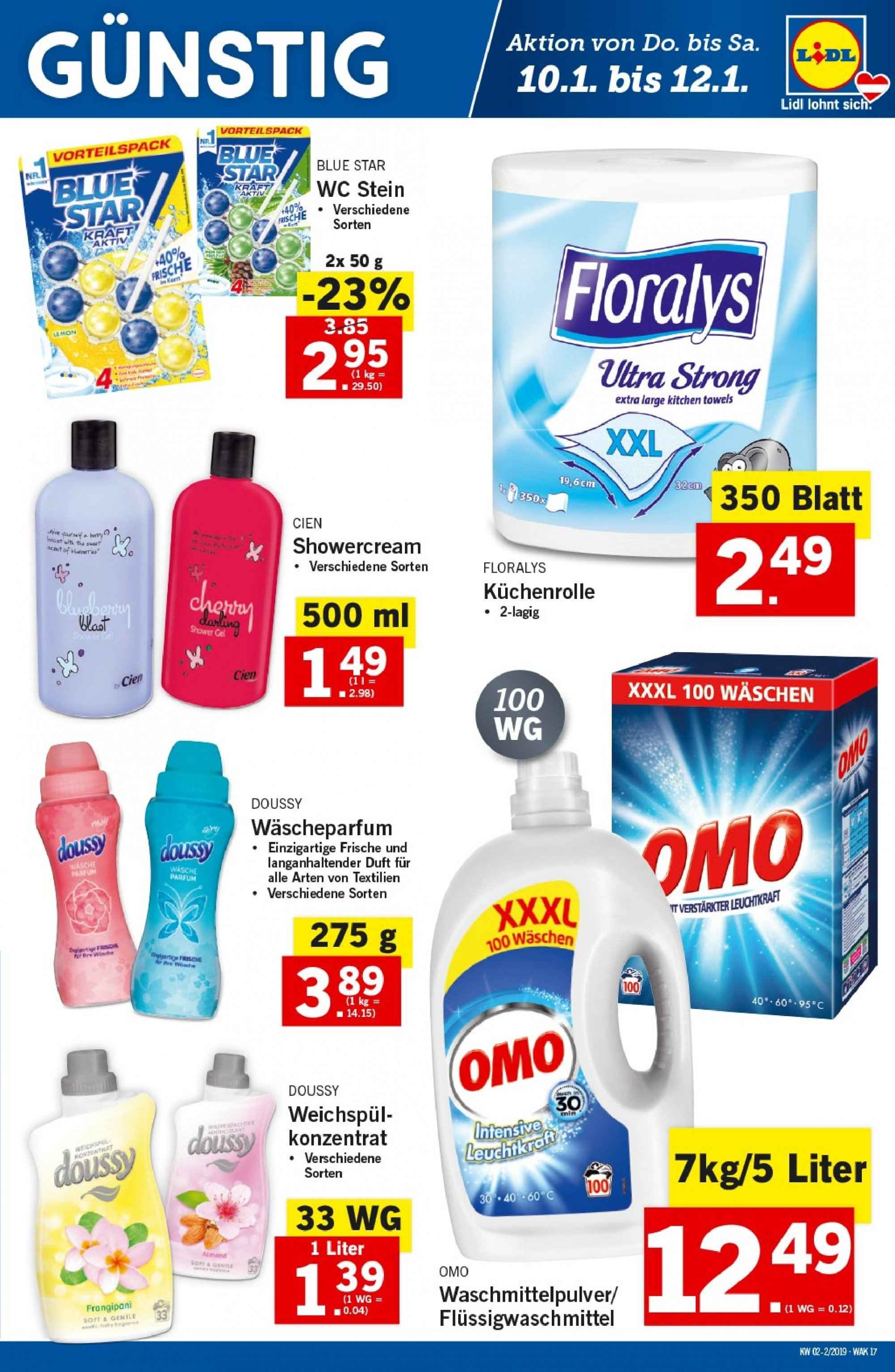Angebote Lidl - 10.1.2019 - 16.1.2019. Seite 17.