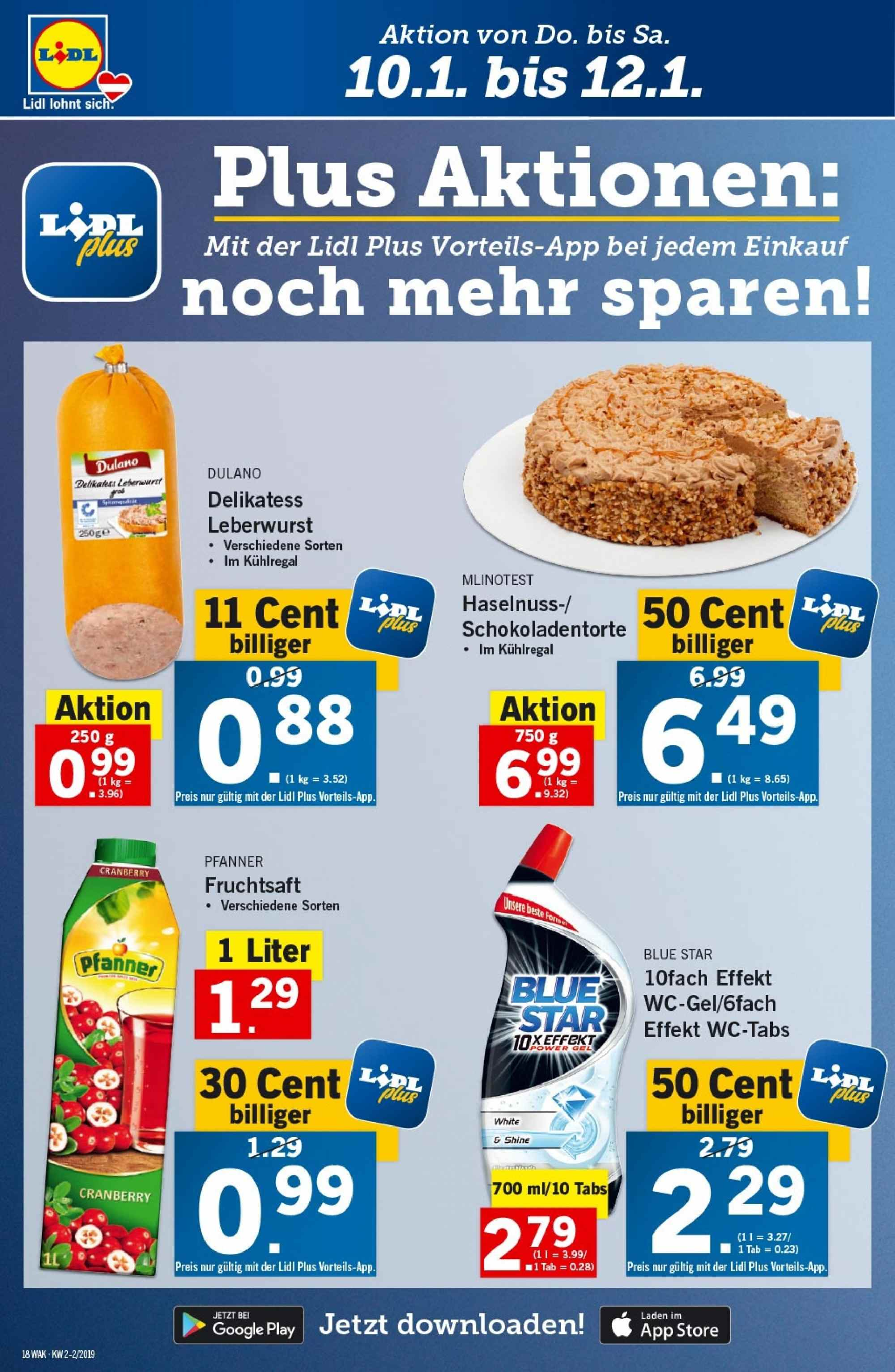 Angebote Lidl - 10.1.2019 - 16.1.2019. Seite 18.