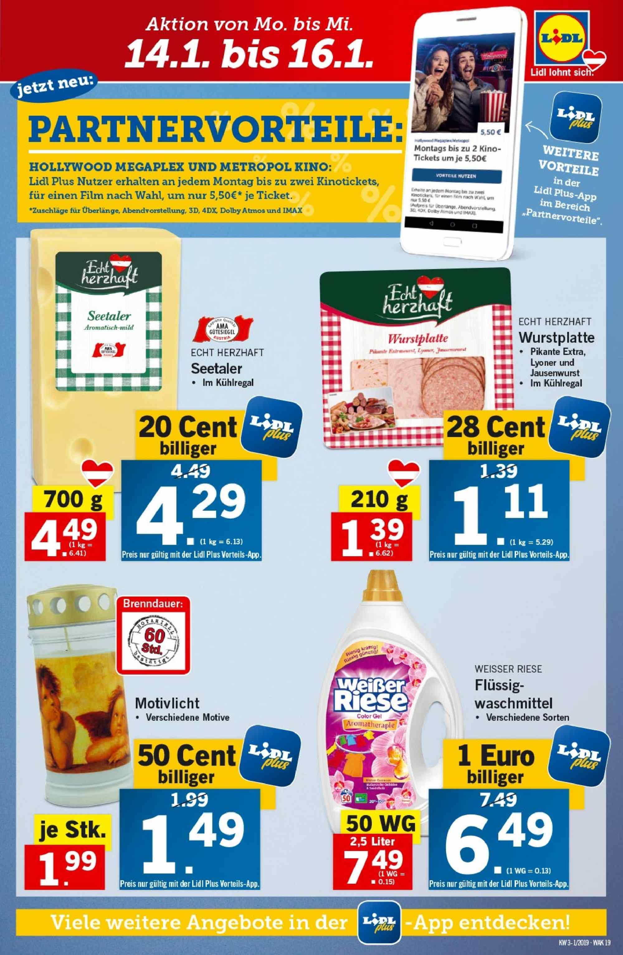 Angebote Lidl - 10.1.2019 - 16.1.2019. Seite 19.