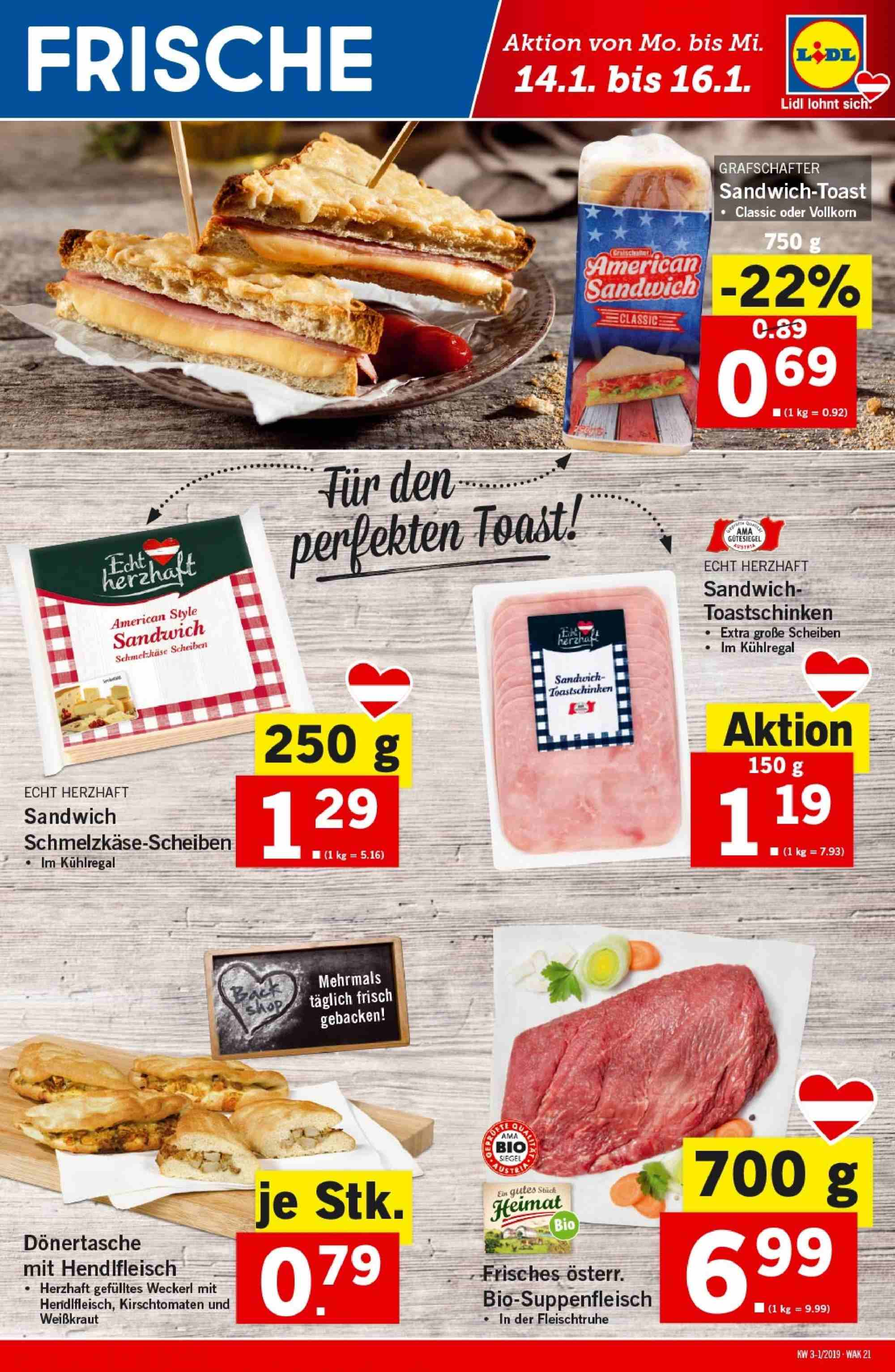 Angebote Lidl - 10.1.2019 - 16.1.2019. Seite 21.