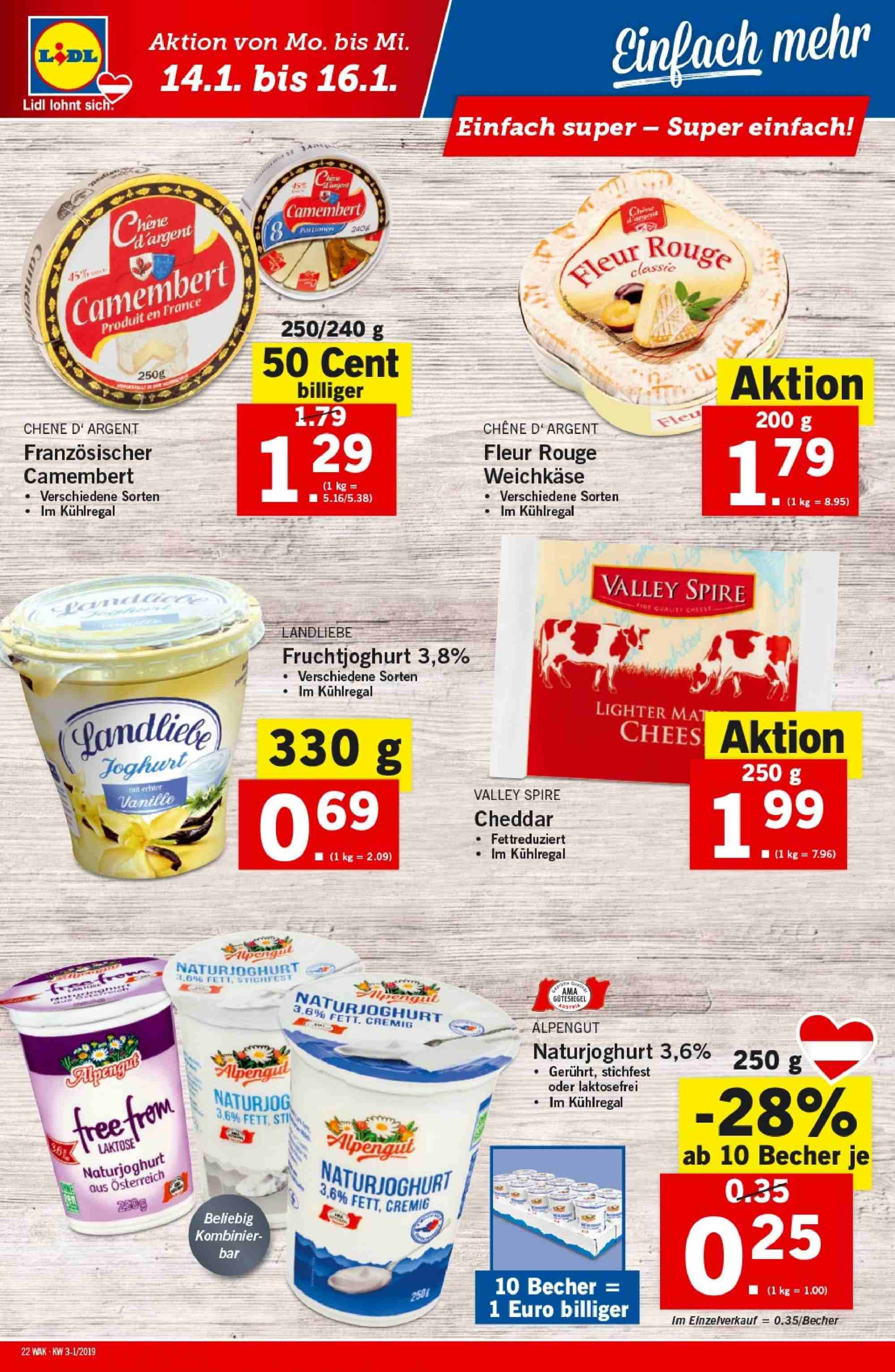 Angebote Lidl - 10.1.2019 - 16.1.2019. Seite 22.