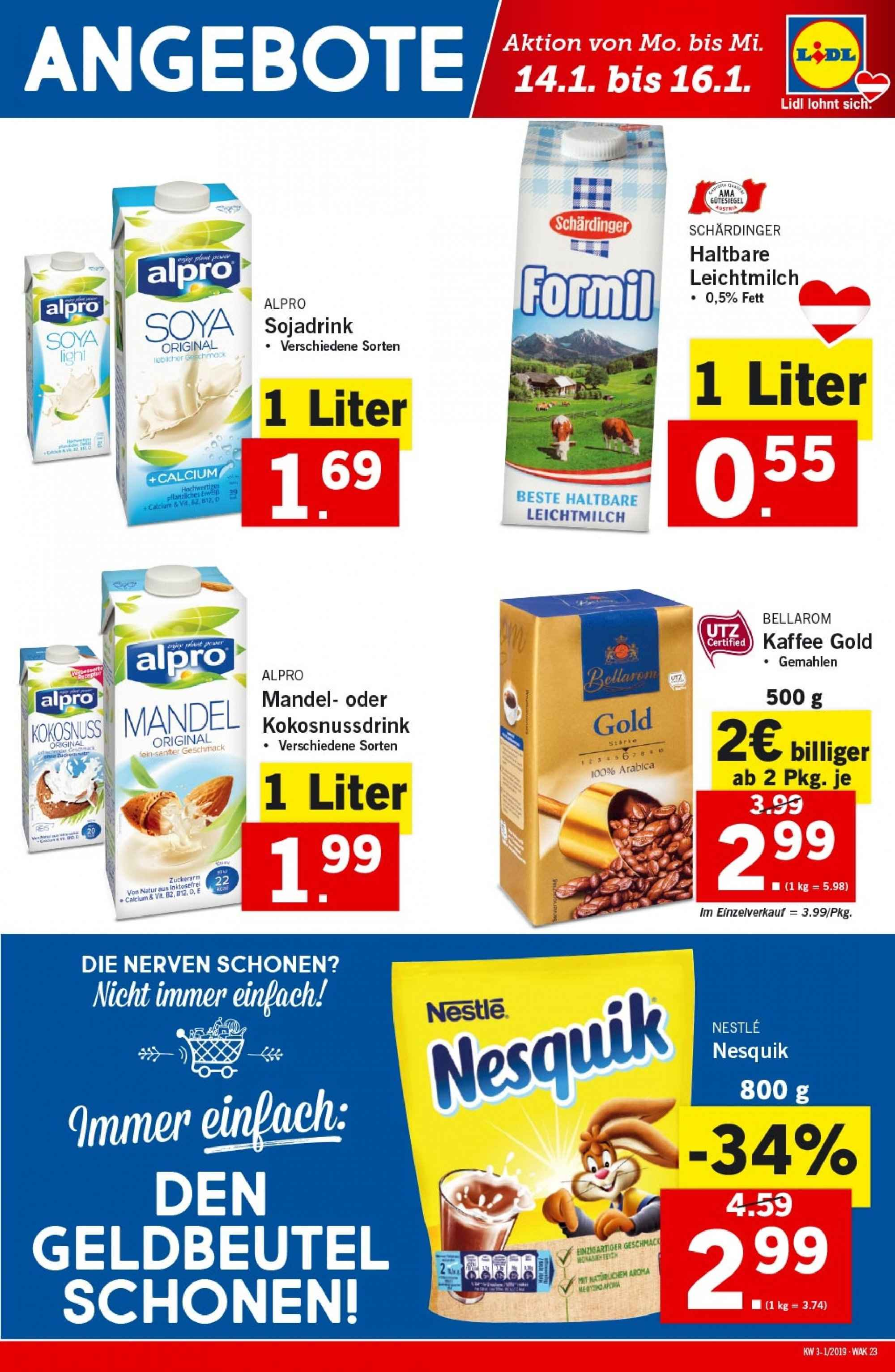 Angebote Lidl - 10.1.2019 - 16.1.2019. Seite 23.