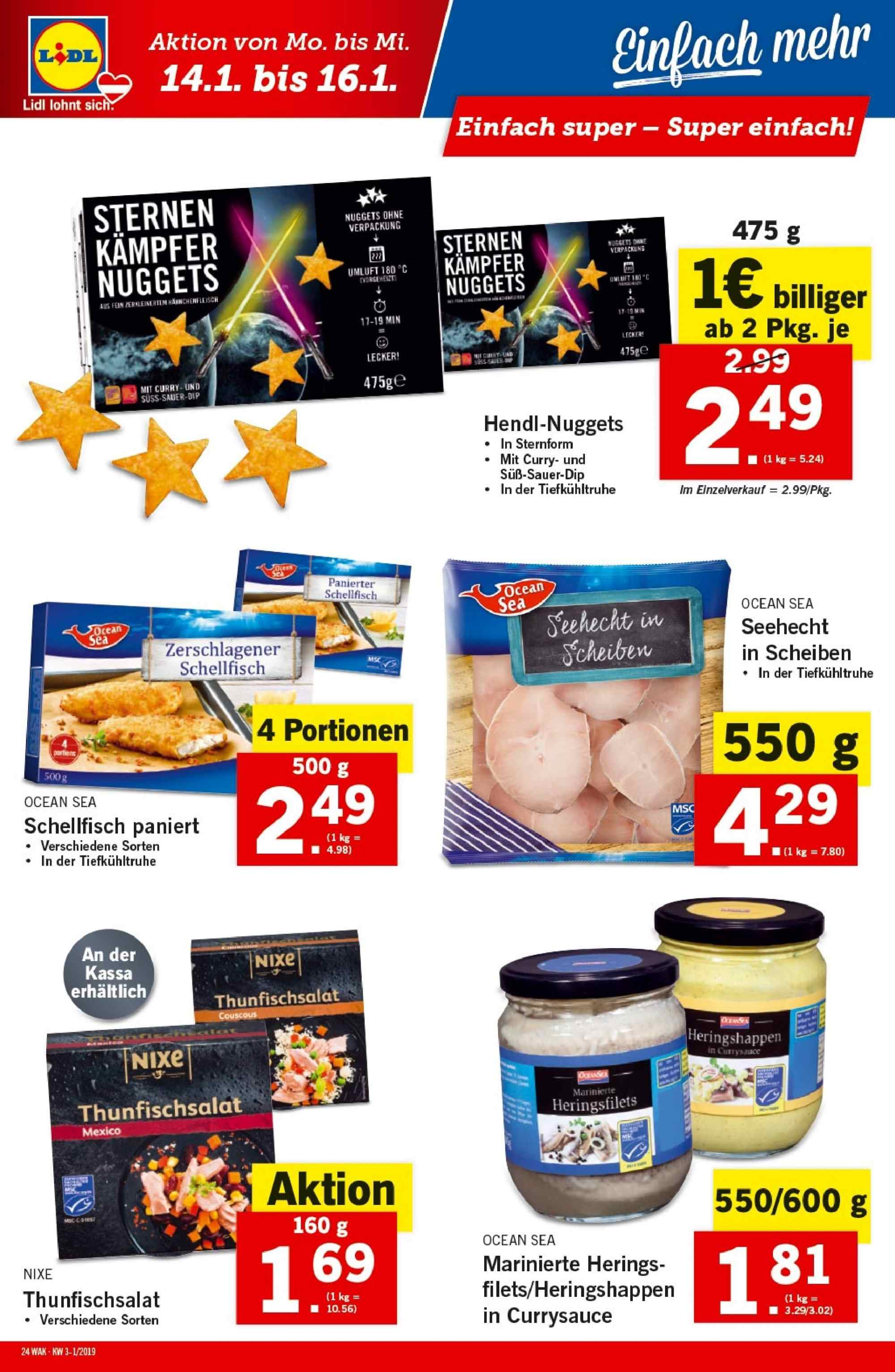 Angebote Lidl - 10.1.2019 - 16.1.2019. Seite 24.